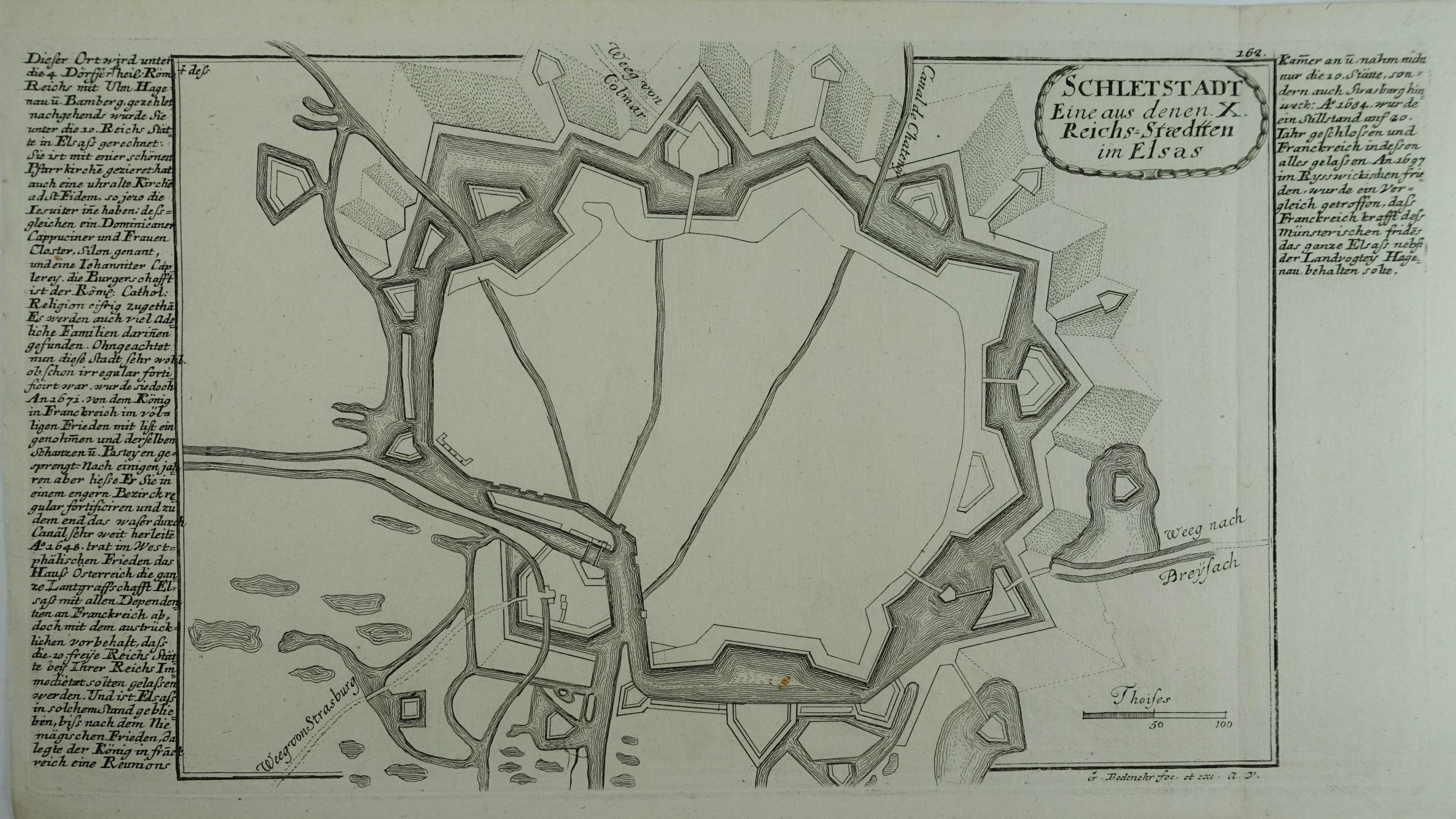 Schletstadt Eine aus denen X. Reichs=Staedtten im: Schlettstadt (Sélestat)