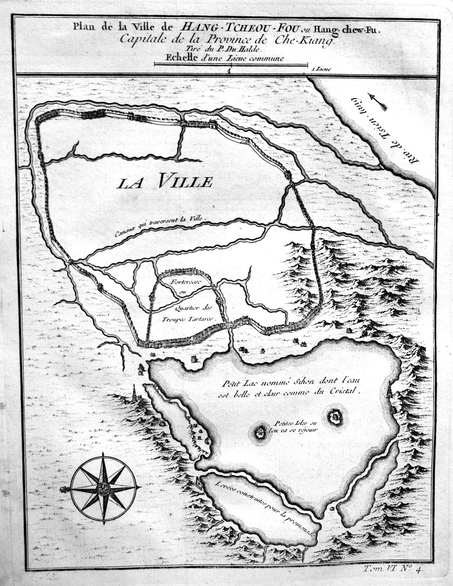 Plan de la Ville de Hang-Tcheou-Fou ou: Bellin, Jacques-Nicolas: