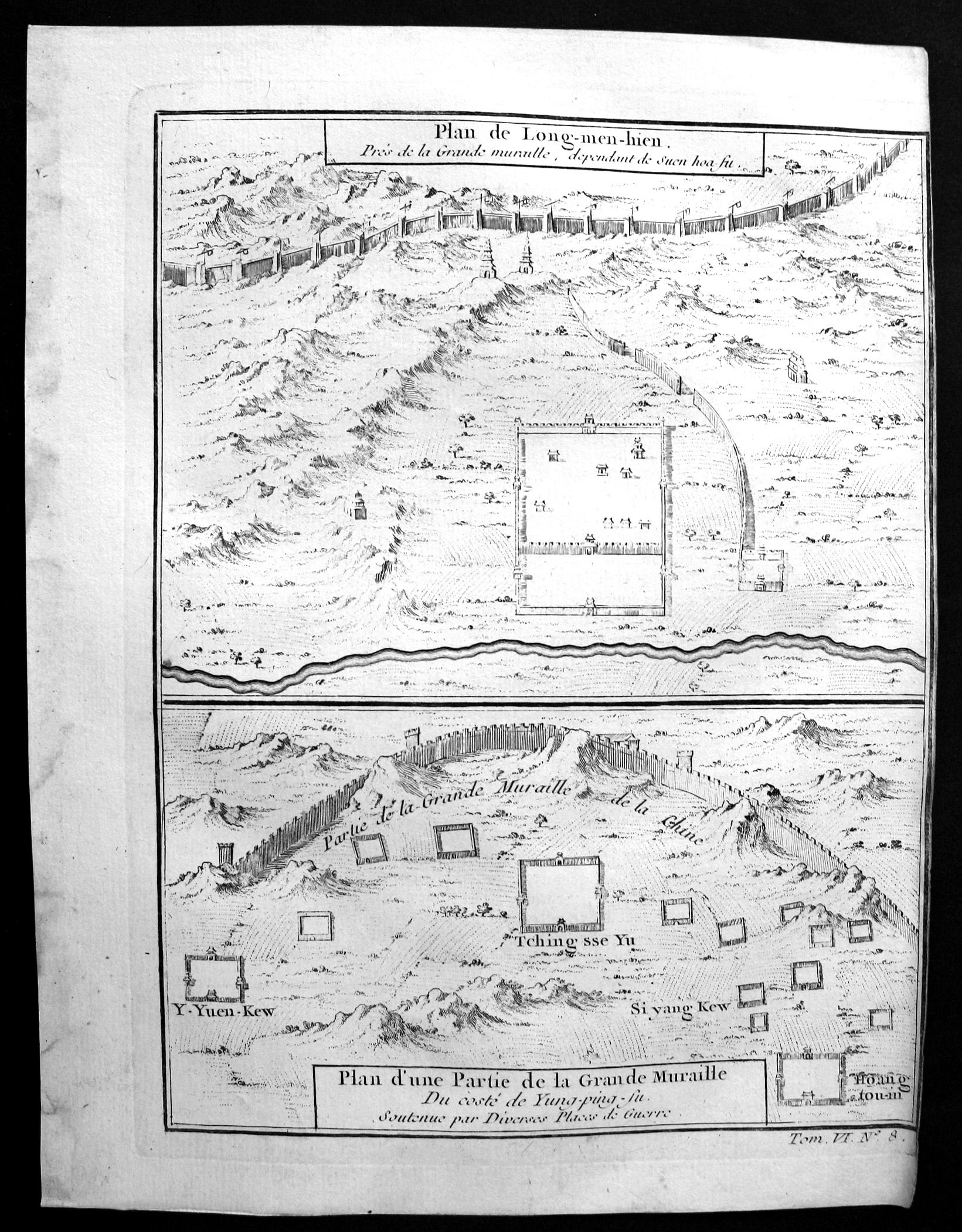 """Plan de Long-men-hien"""" - Longguan Hebei China: Bellin, Jacques-Nicolas:"""