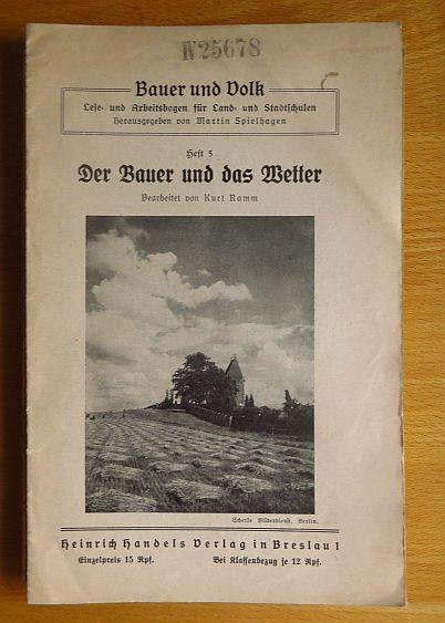 Der Bauer und das Wetter. bearb. von: Ramm, Kurt und