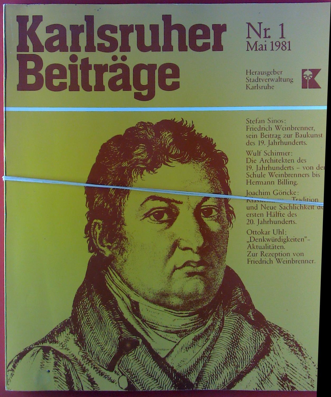 Karlsruher Beiträge Nr. 1, Mai 1981: Hrsg. Stadt Karlsruhe
