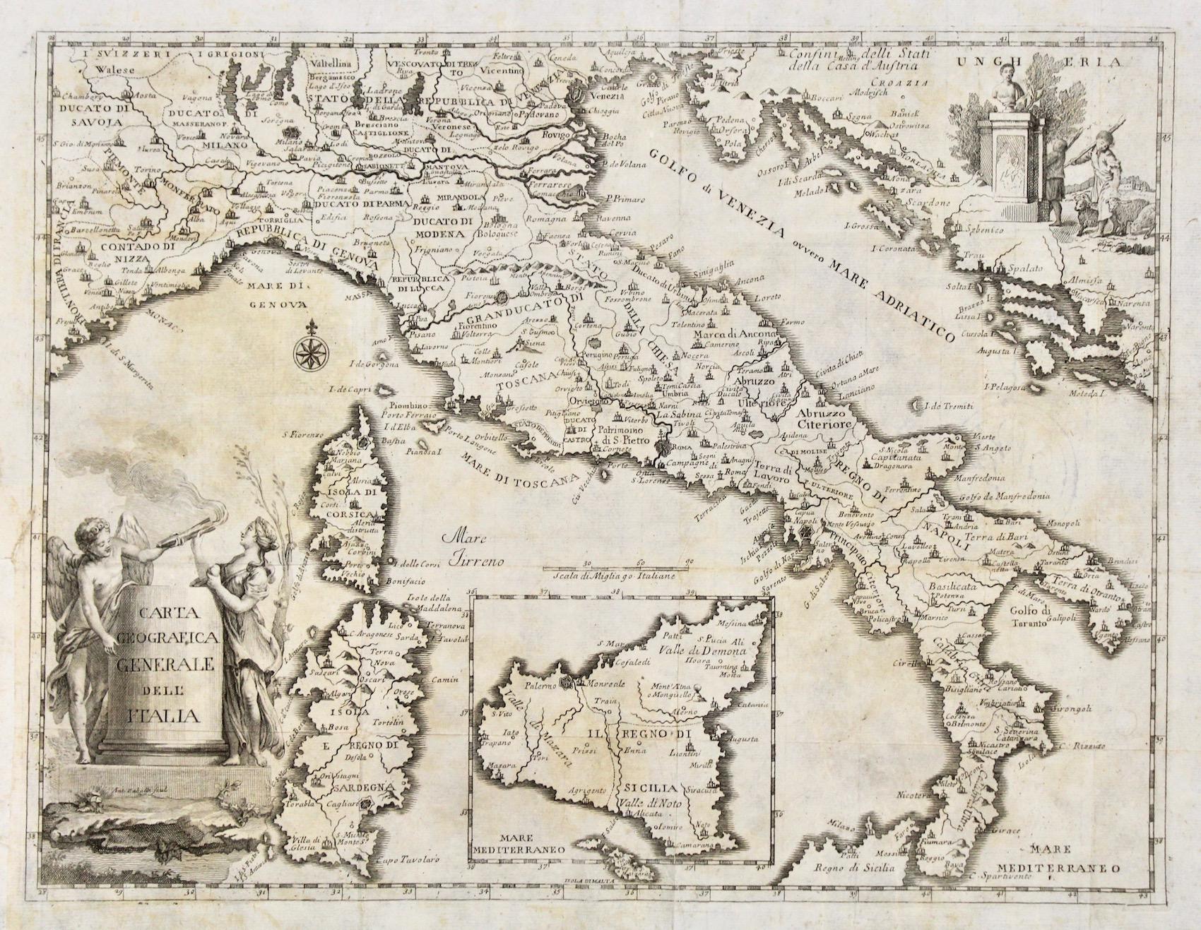 Cartina Geografica Italia Hd.Carta Geografica Generale Dell Italia Da Orlandi Cesare 1770 Arte Nbsp Nbsp Stampa Nbsp Nbsp Poster Libreria Antiquaria Perini Sas Di Perini