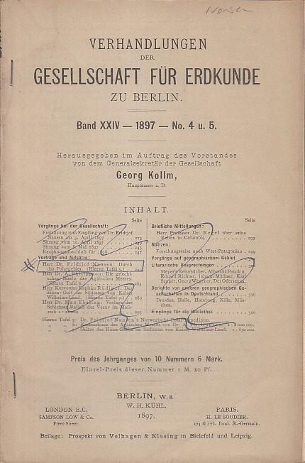 Durch das Polargebiet. 3. April 1897. (: Nansen, Fridtjof: