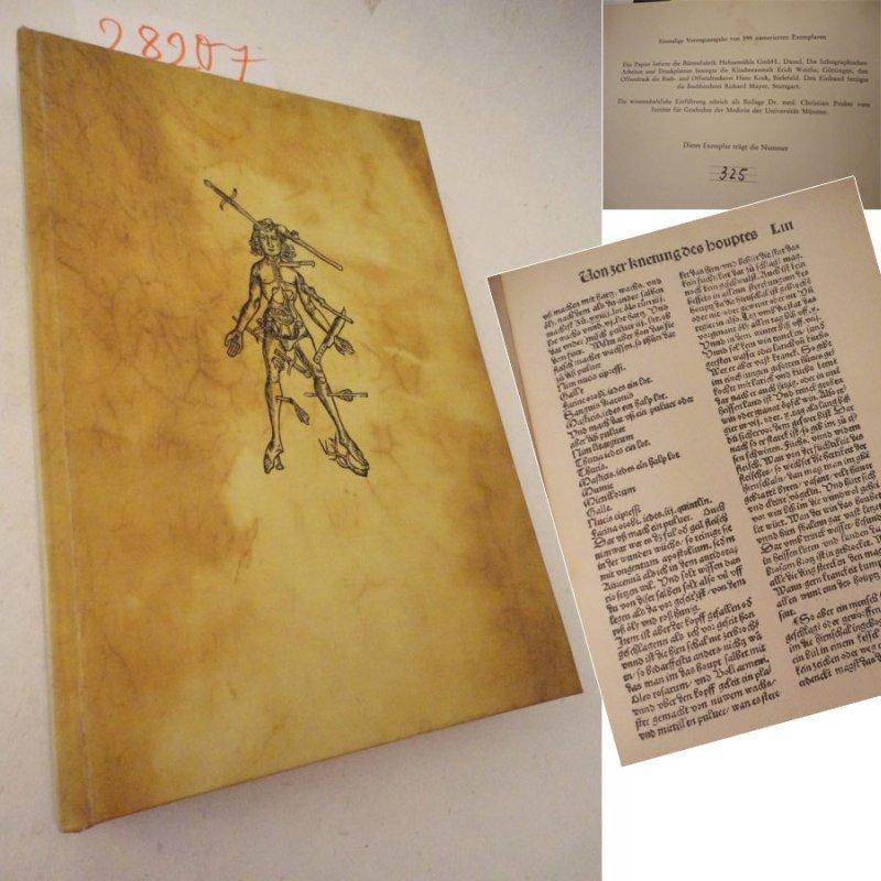 Buch der Cirurgia. Dokumenta Drucke Nr. 1,: Hieronymus Brunschwig: