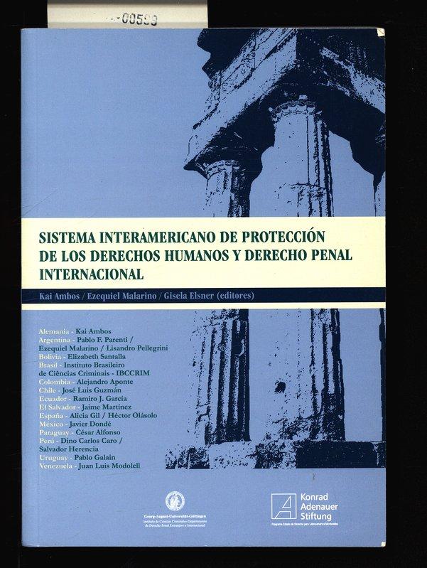 Sistema interamericano de protección de los derechos: Ambos, Kai: