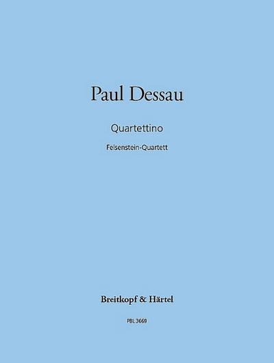 Quartettino Streichquartett Nr.5 : Studienpartitur: Paul Dessau