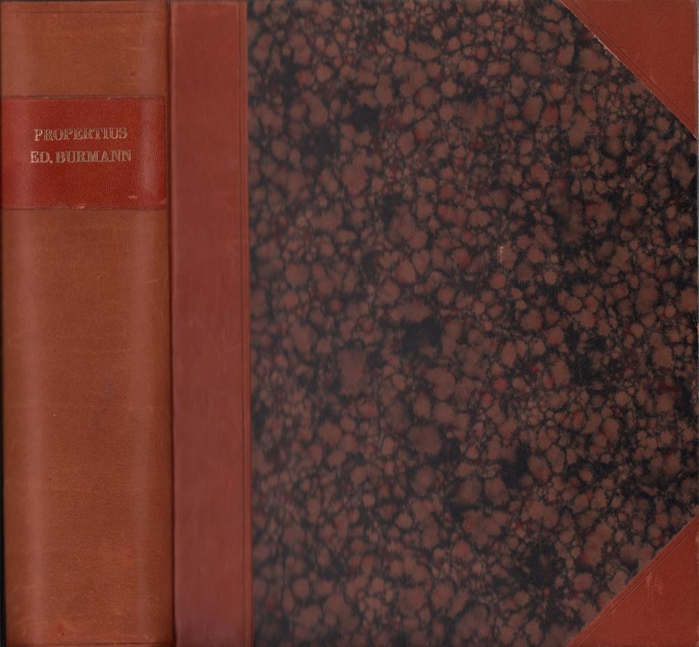 Sex. Aurelii Propertii Elegiarum libri IV. Cum: Propertius, Sextus Aurelius.