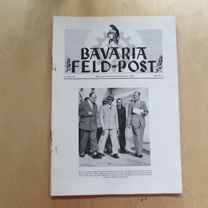 Bavaria Feld-Post (3. Jahrgang, Heft Nr. 9): Fellheimer, M. J.