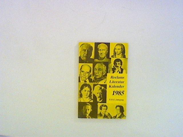 Reclams Literatur-Kalender 1985: Ohne: