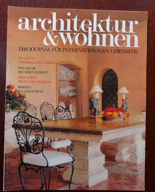 Architektur und kultiviertes Wohnen. Das Journal für: Architektur: