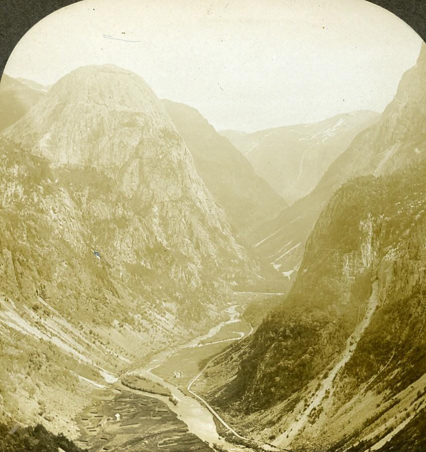 Norway Great Nærødal Pass Mountain Old Stereoview: William H. RAU