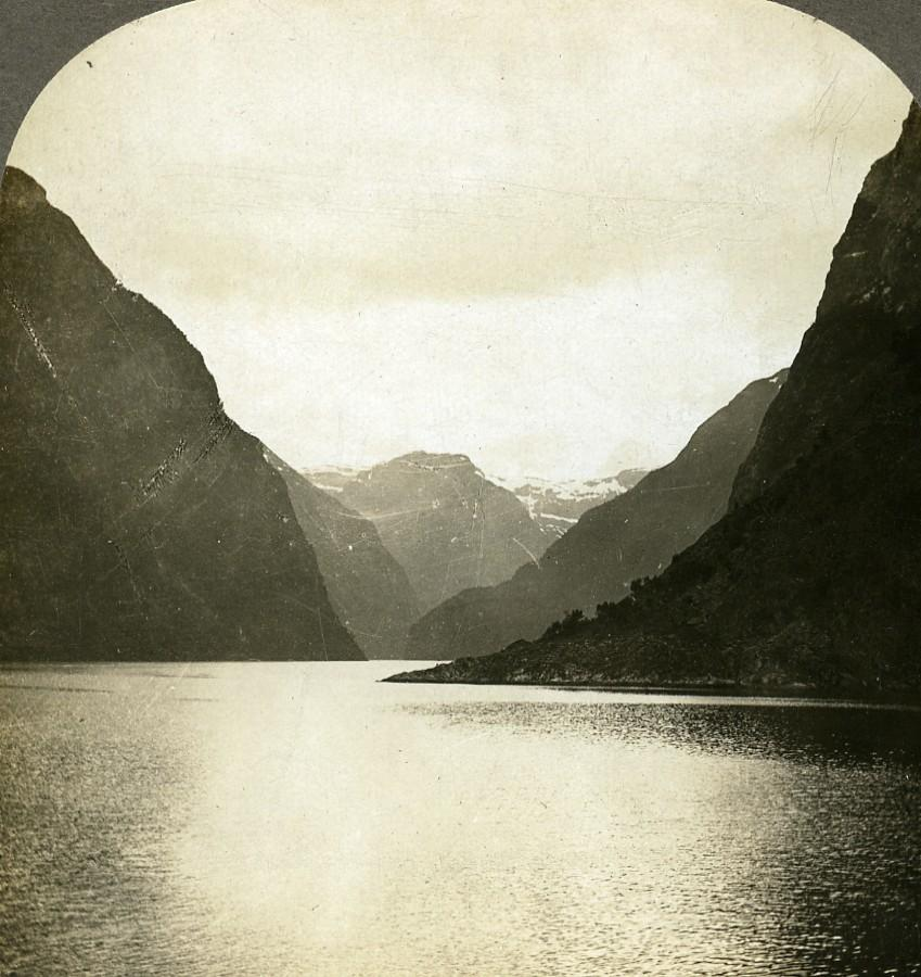 Norway Fjords Panorama Light and Shade Old: William H. RAU