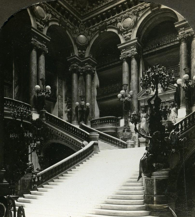 France Paris Opera Grand Stairway Escalier Old: William H. RAU