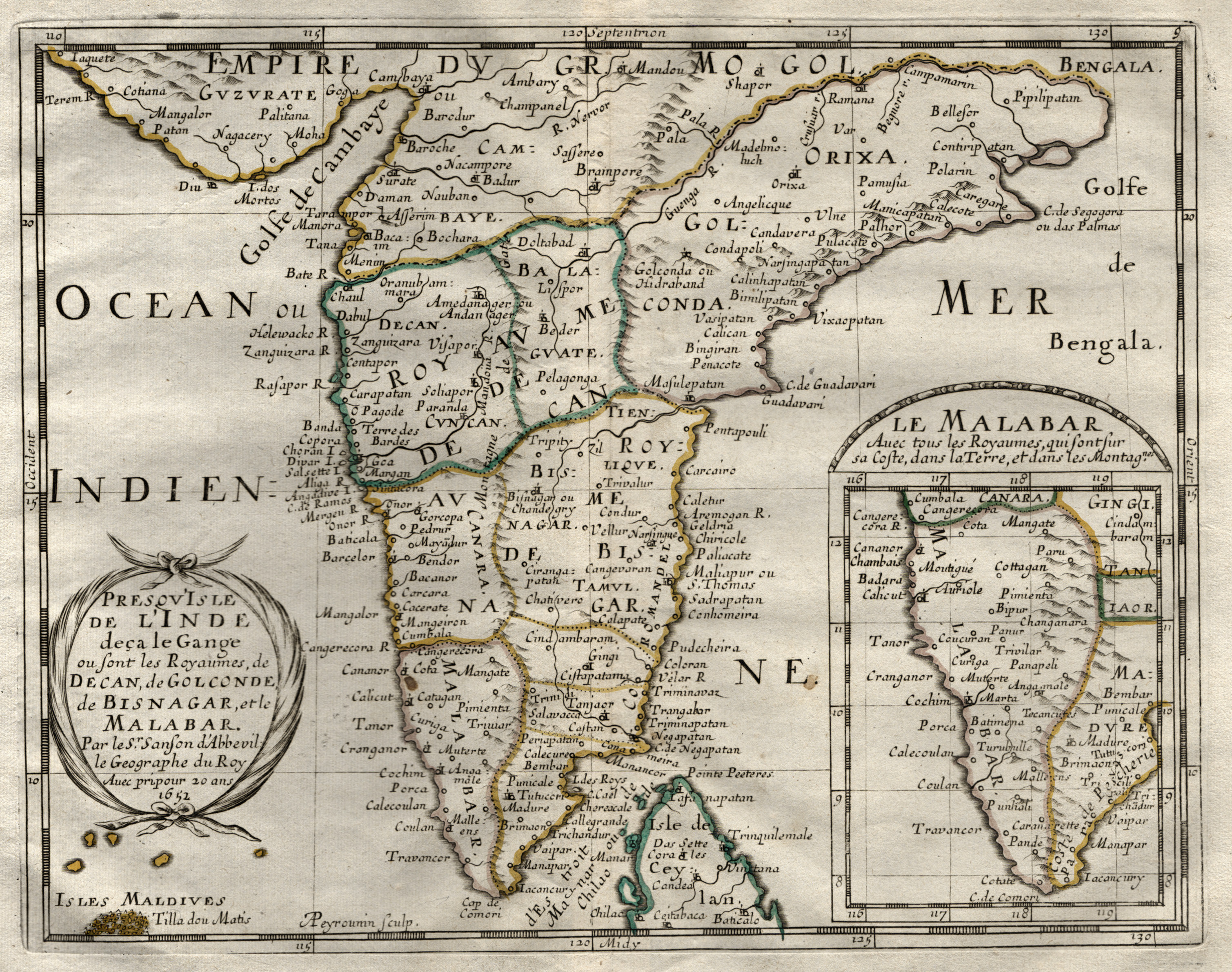 Kst.- Karte, v. A. Peyrounin b N.: Indien ( India