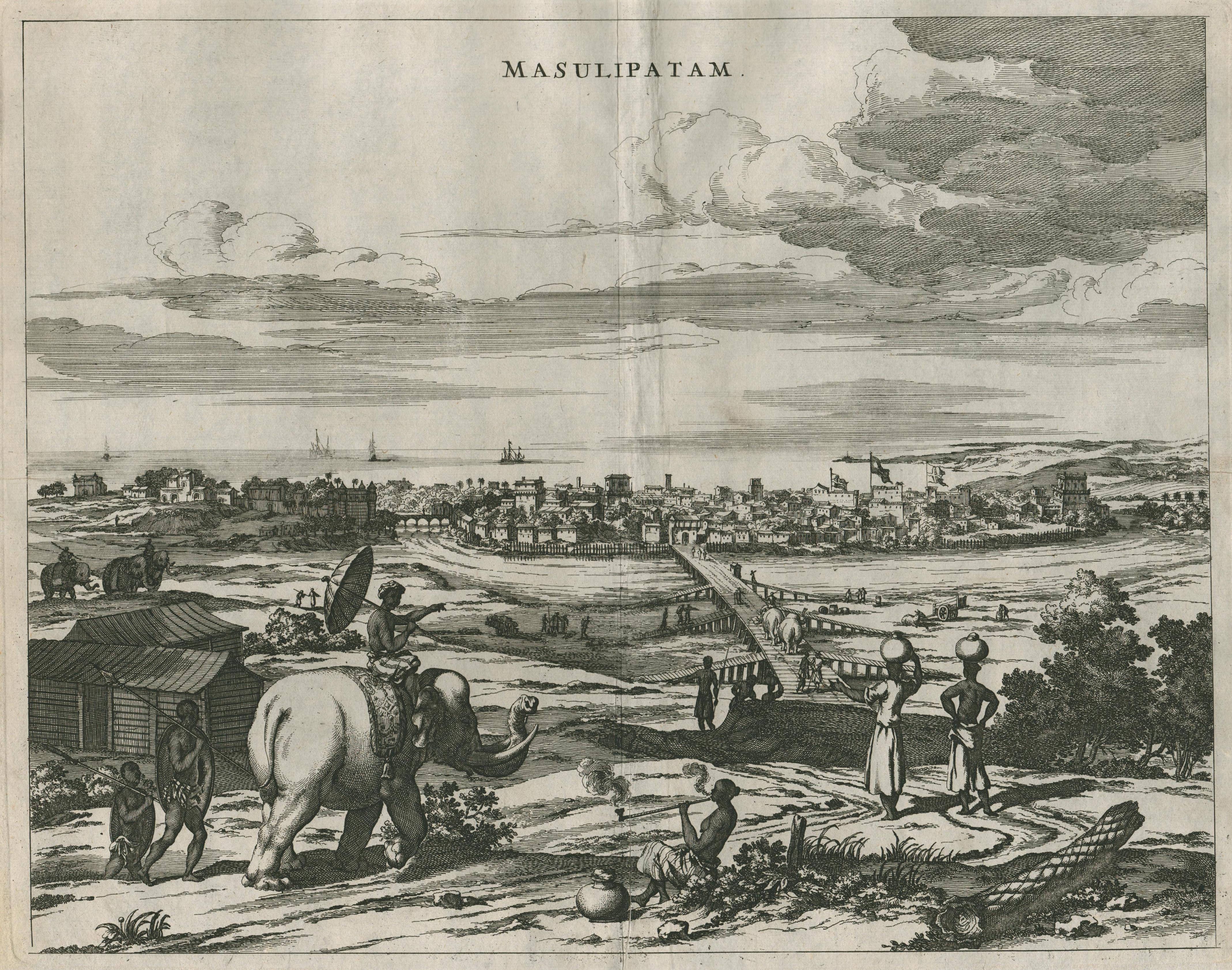 "GA über den Fluss, "" Masulipatnam "": Indien ( India"