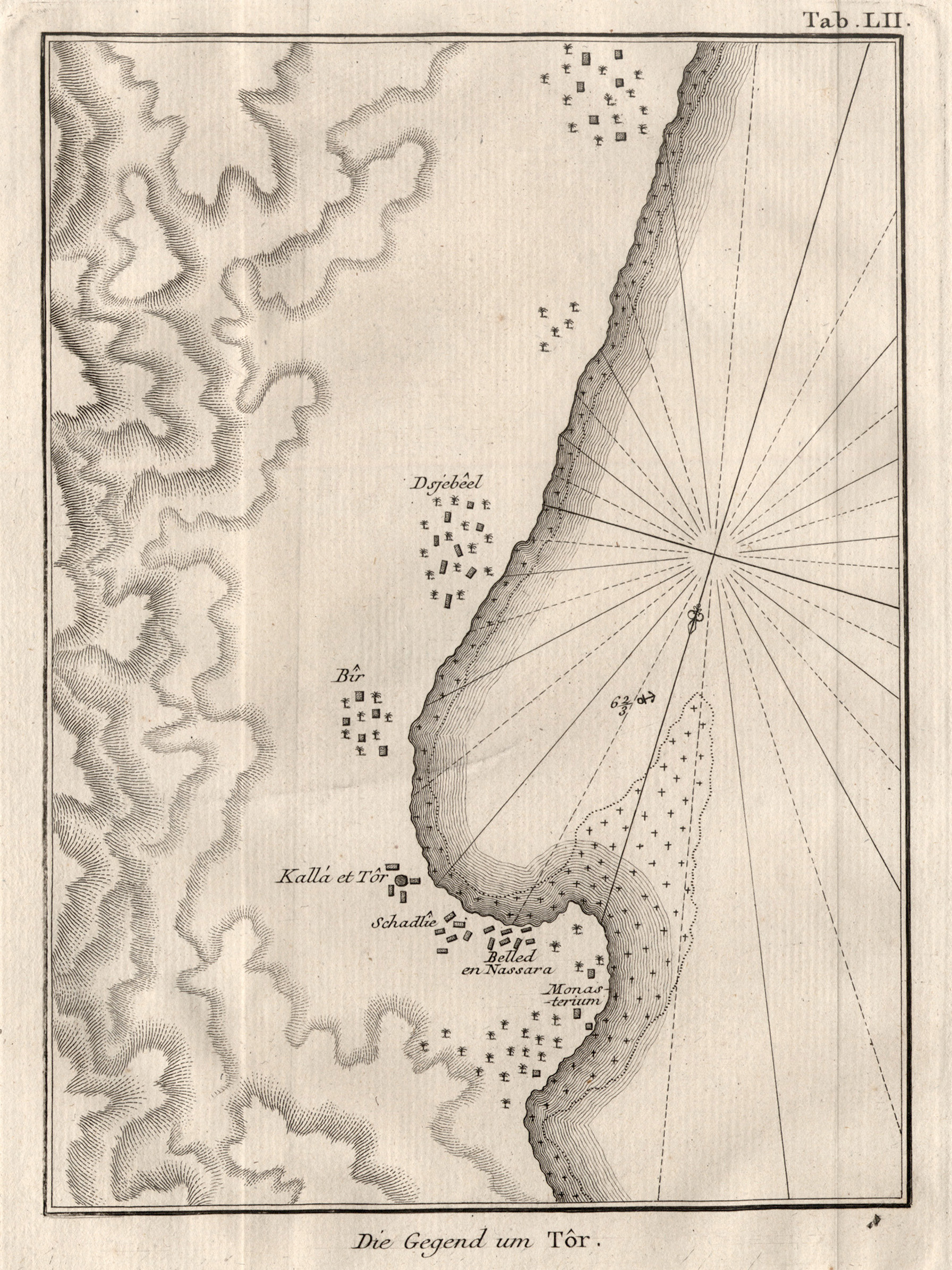 "Umgebungskarte, ""Die Gegend um Tor"".: Ägypten ( Egypt"