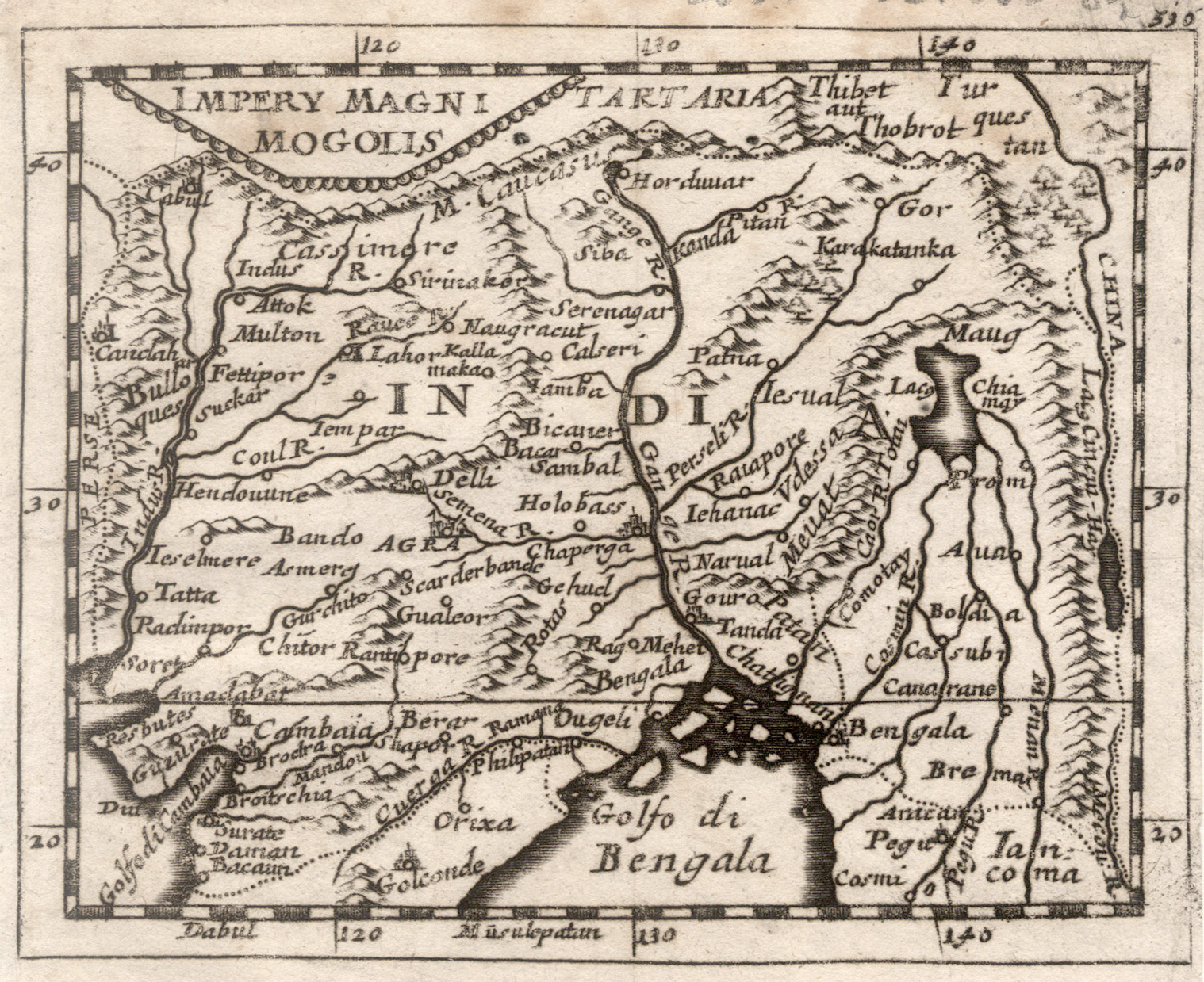 "Kst.- Karte, aus Duval / Hoffmann, ""Impery: Indien ( India"