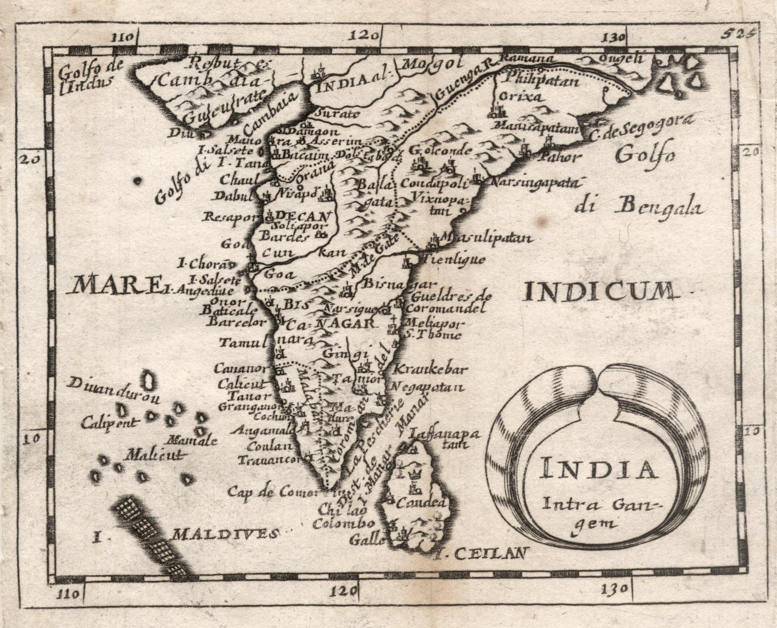 "Kst.- Karte, aus Duval / Hoffmann, ""India: Indien ( India"