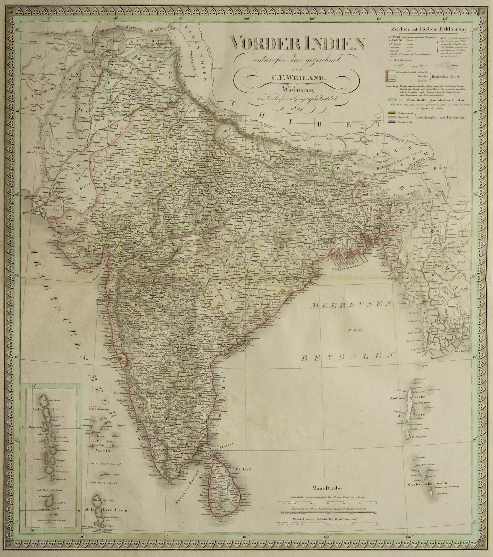 Kst.- Karte, n. C.F. Weiland b. Geogr.: Indien ( India