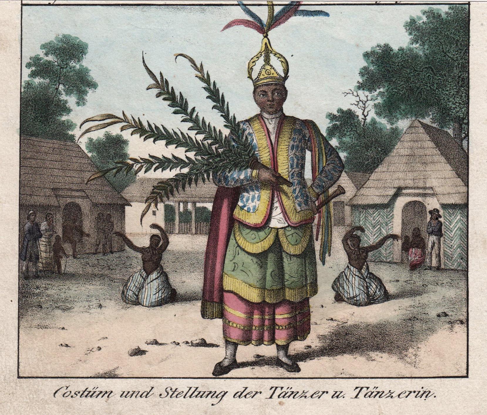 """Tanz ( Dancer ), """"Costüm und Stellung: Guam: Ethnology:"""