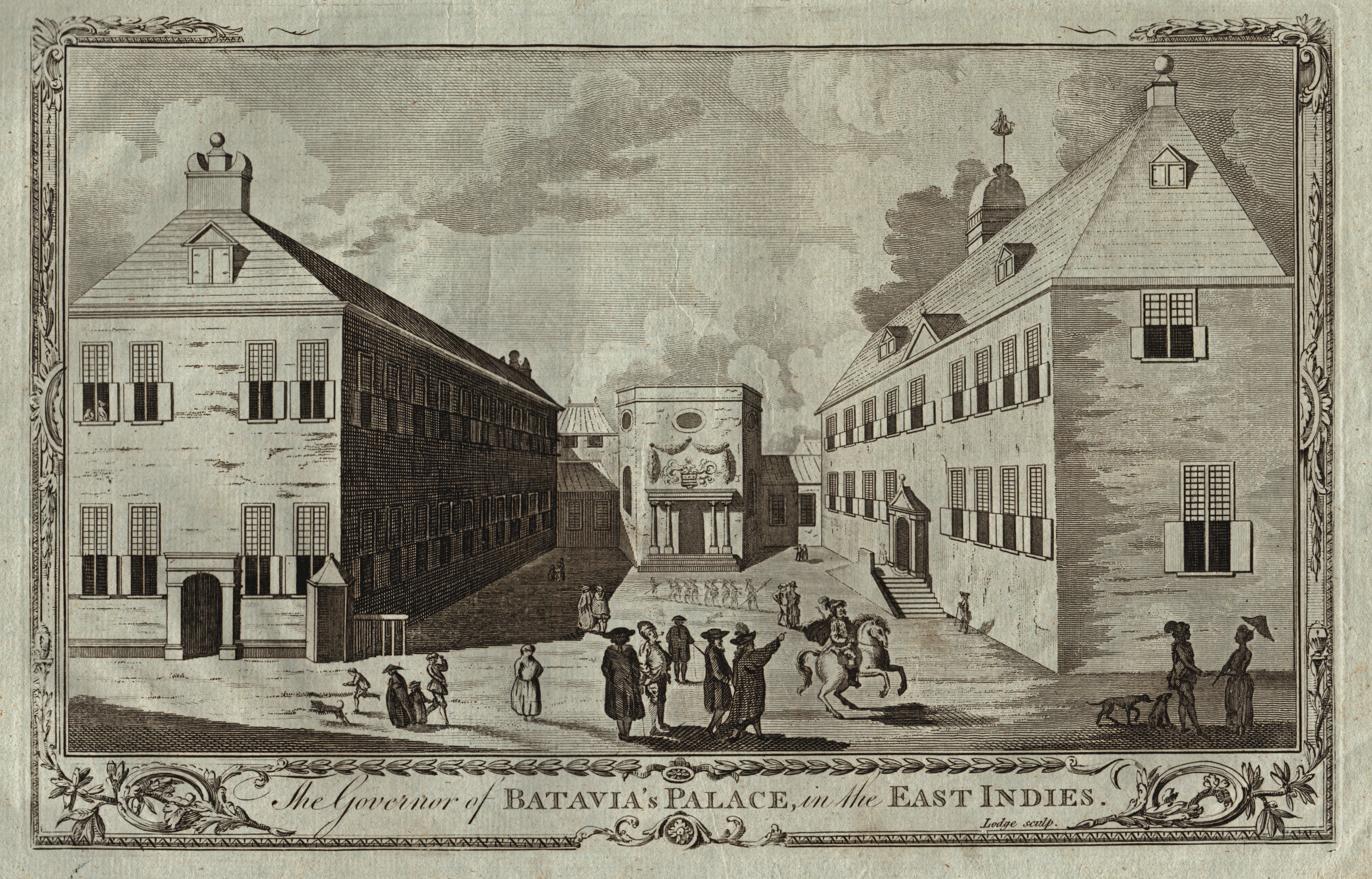 "TA., Regierungspalast, ""The Governer of Batavia's Palace: Indonesien ( Indonesia"