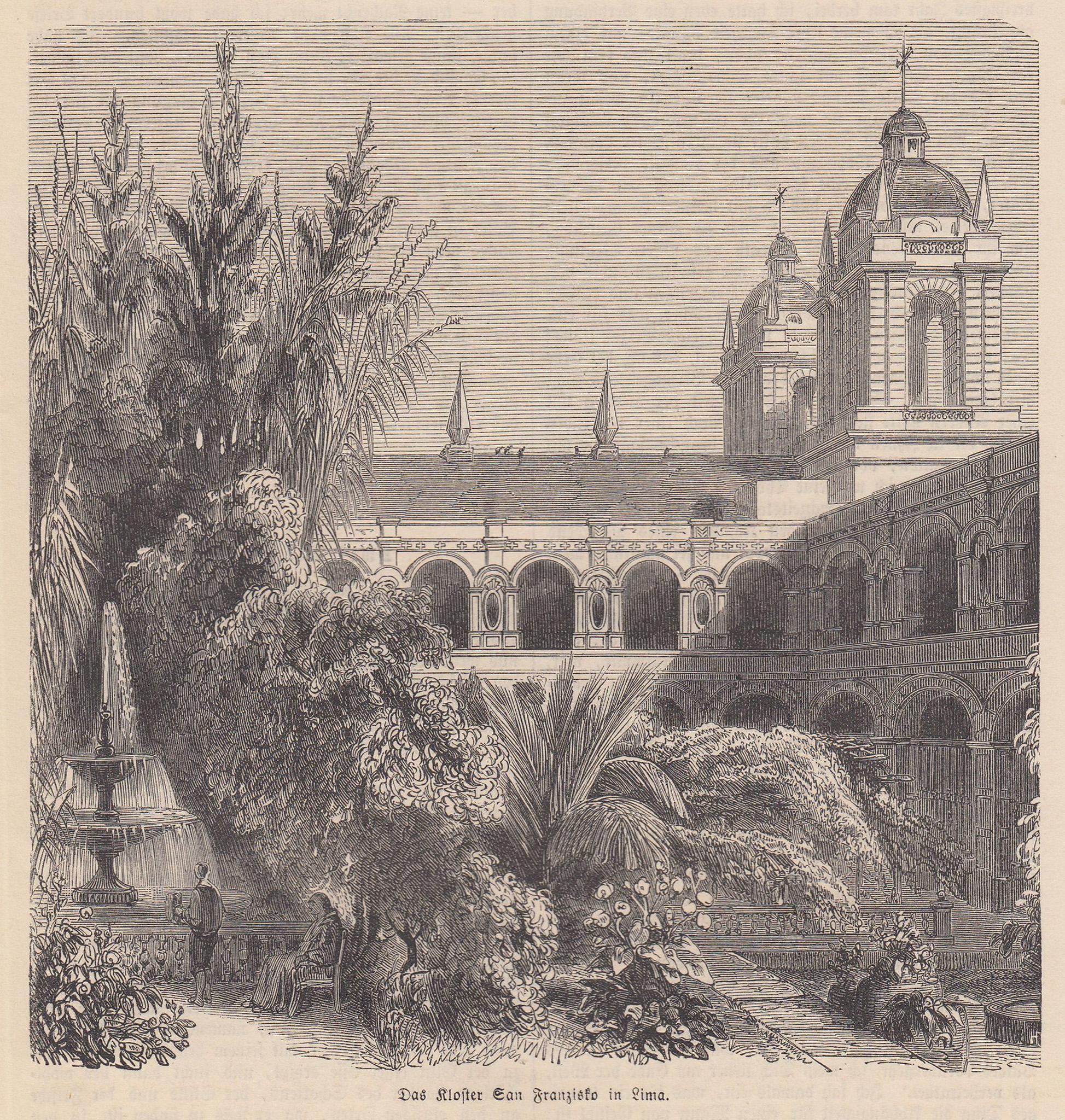"""TA., Kloster, """"Das Kloster San Franzisko in: Peru: Lima:"""