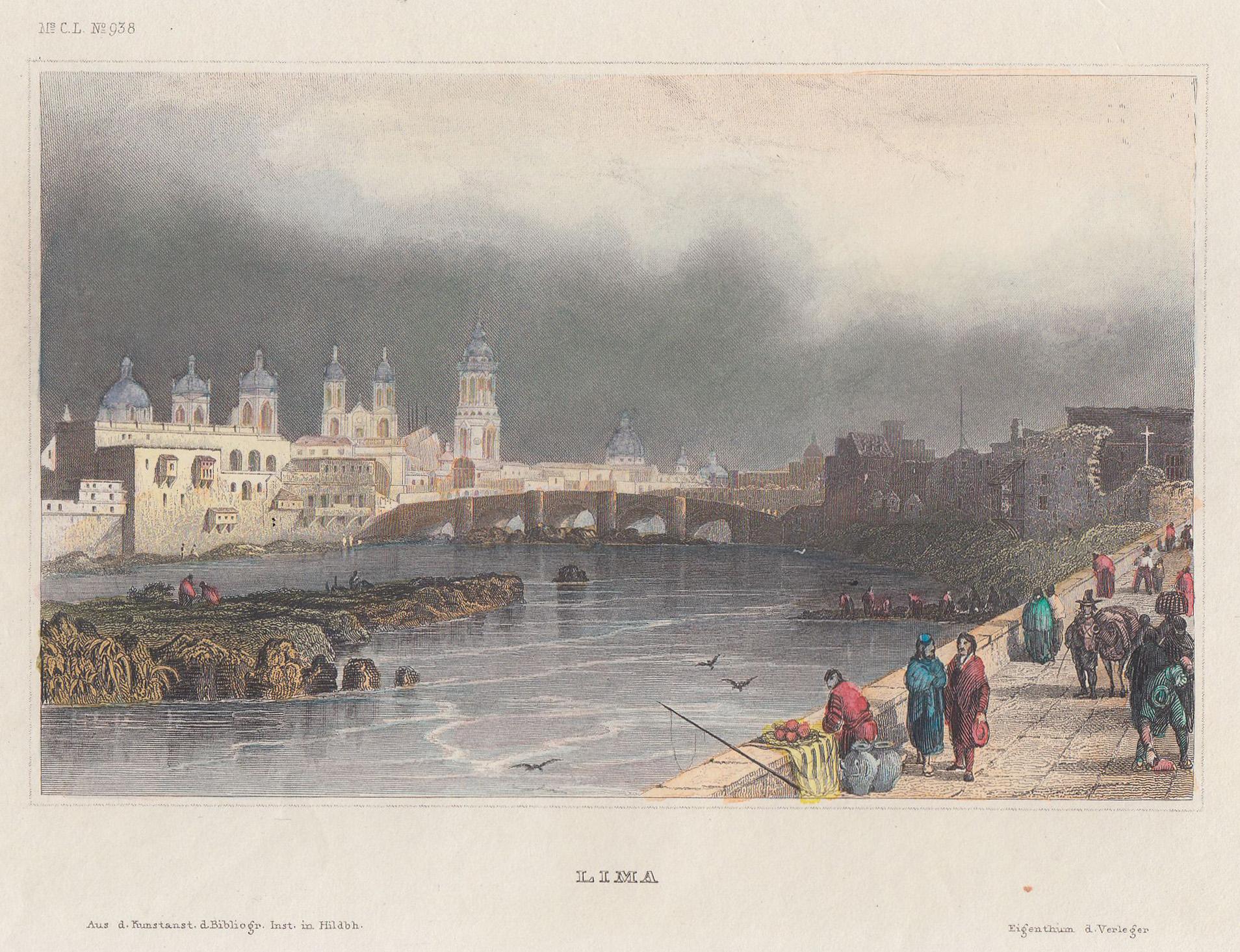 Blick über den Rio Rimsac auf Lima.: Peru: Lima: