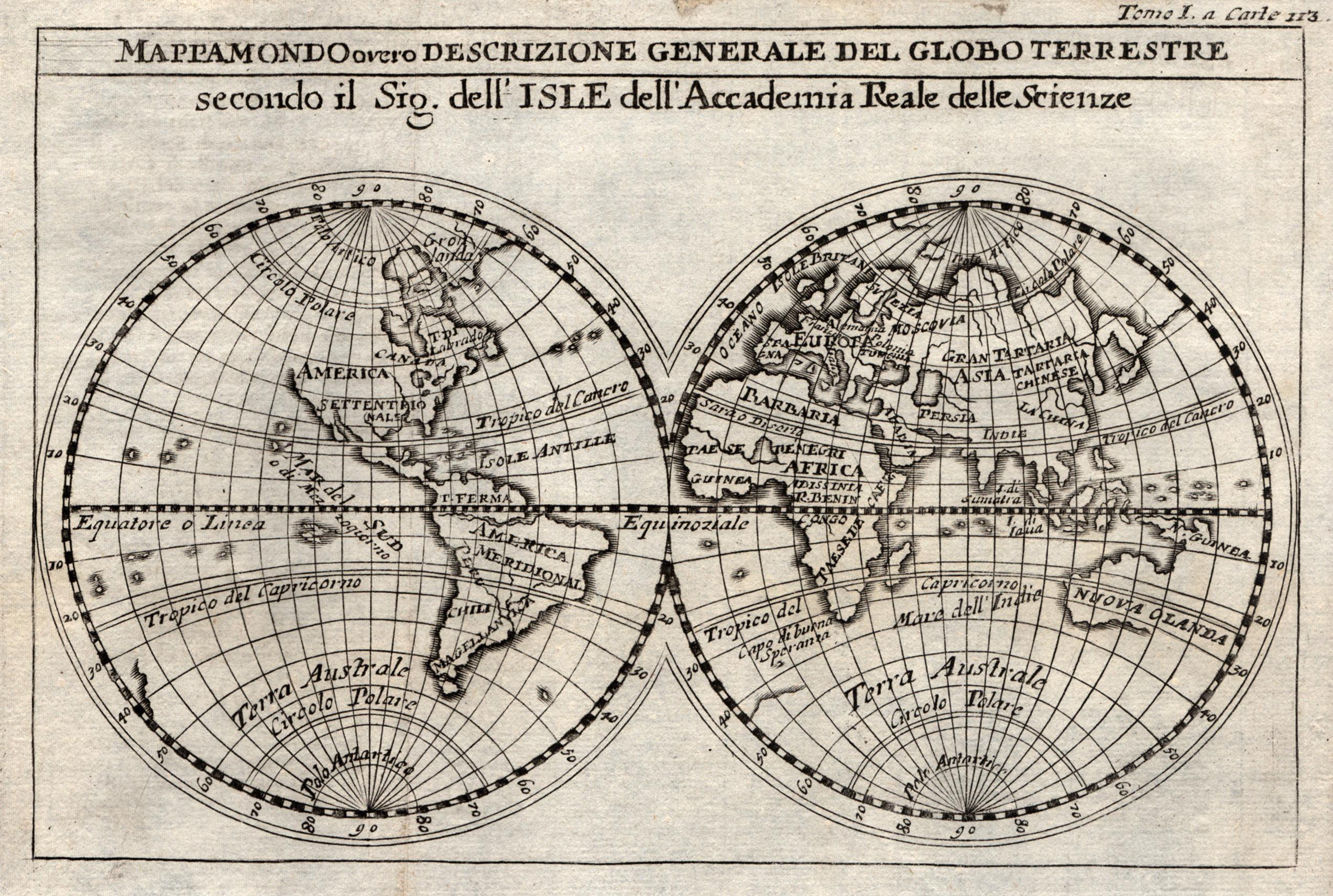 Kst.- Karte, nach de l'Isle aus de: Weltkarte ( World