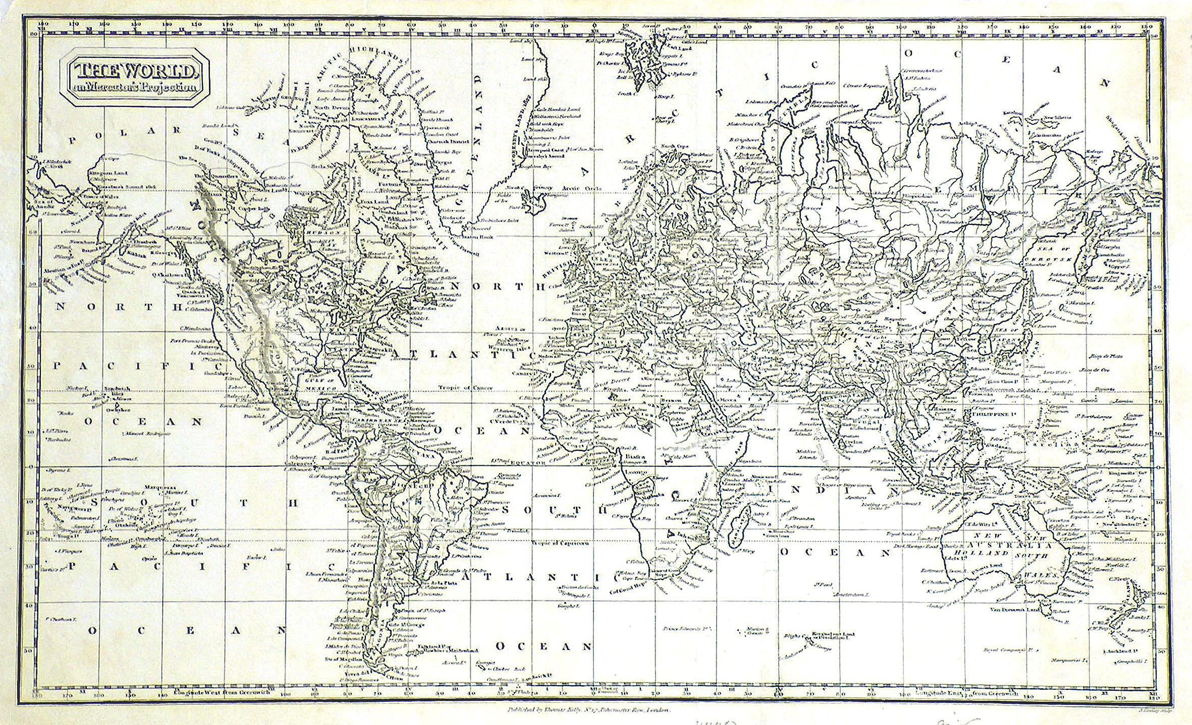 "Kst.- Karte, v. Findlay b. Kelly, ""The: Weltkarte ( World"