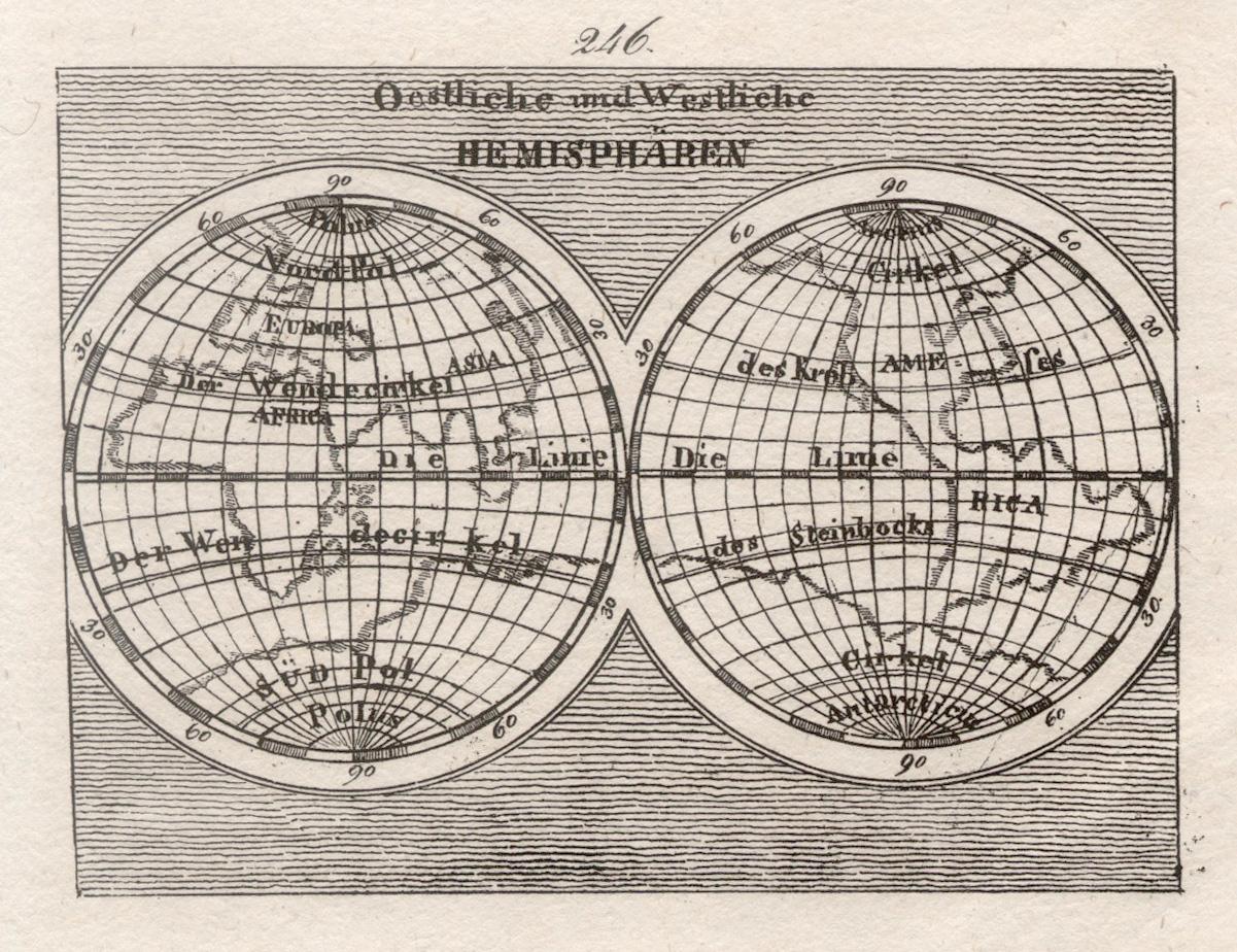 Litho - Karte, aus Gailer, Neuer Orbis: Weltkarte ( World