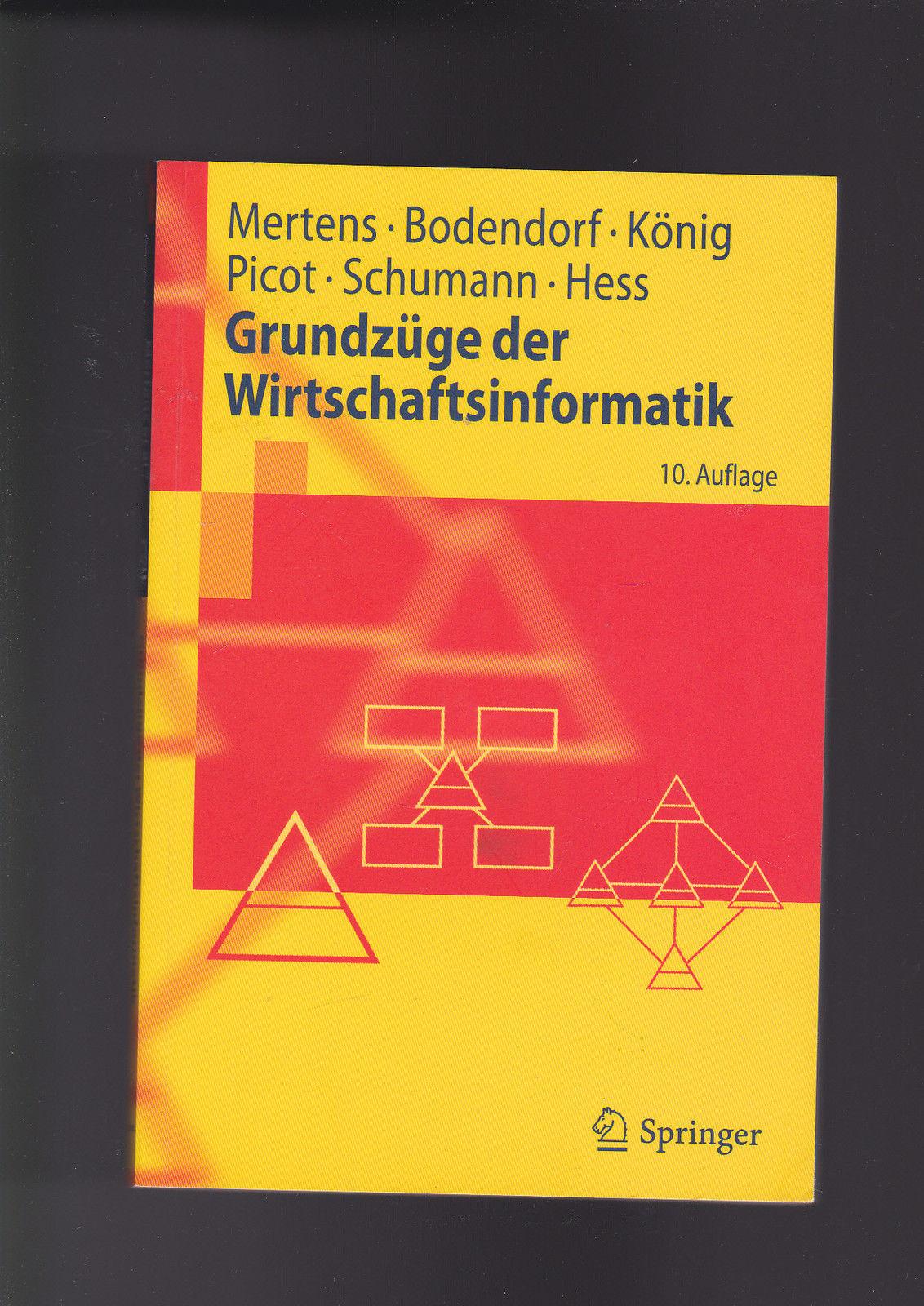 Mertens, Bodendorf, Picot u.a., Grundzüge der Wirtschaftsinformatik - Mertens Bodendorf und Picot