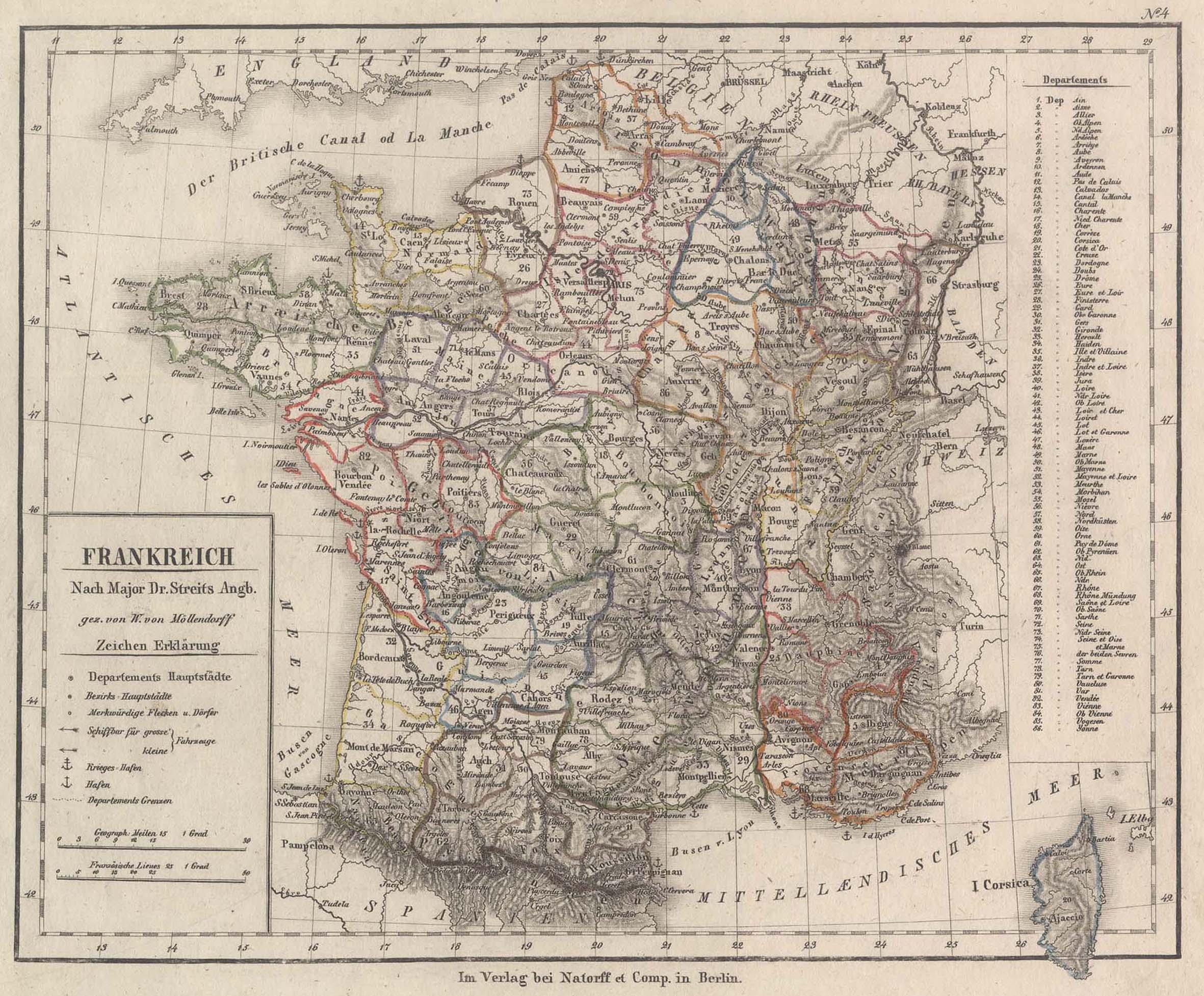 Stst.- Karte, v. W. v. Möllendorf n.: Frankreich ( France