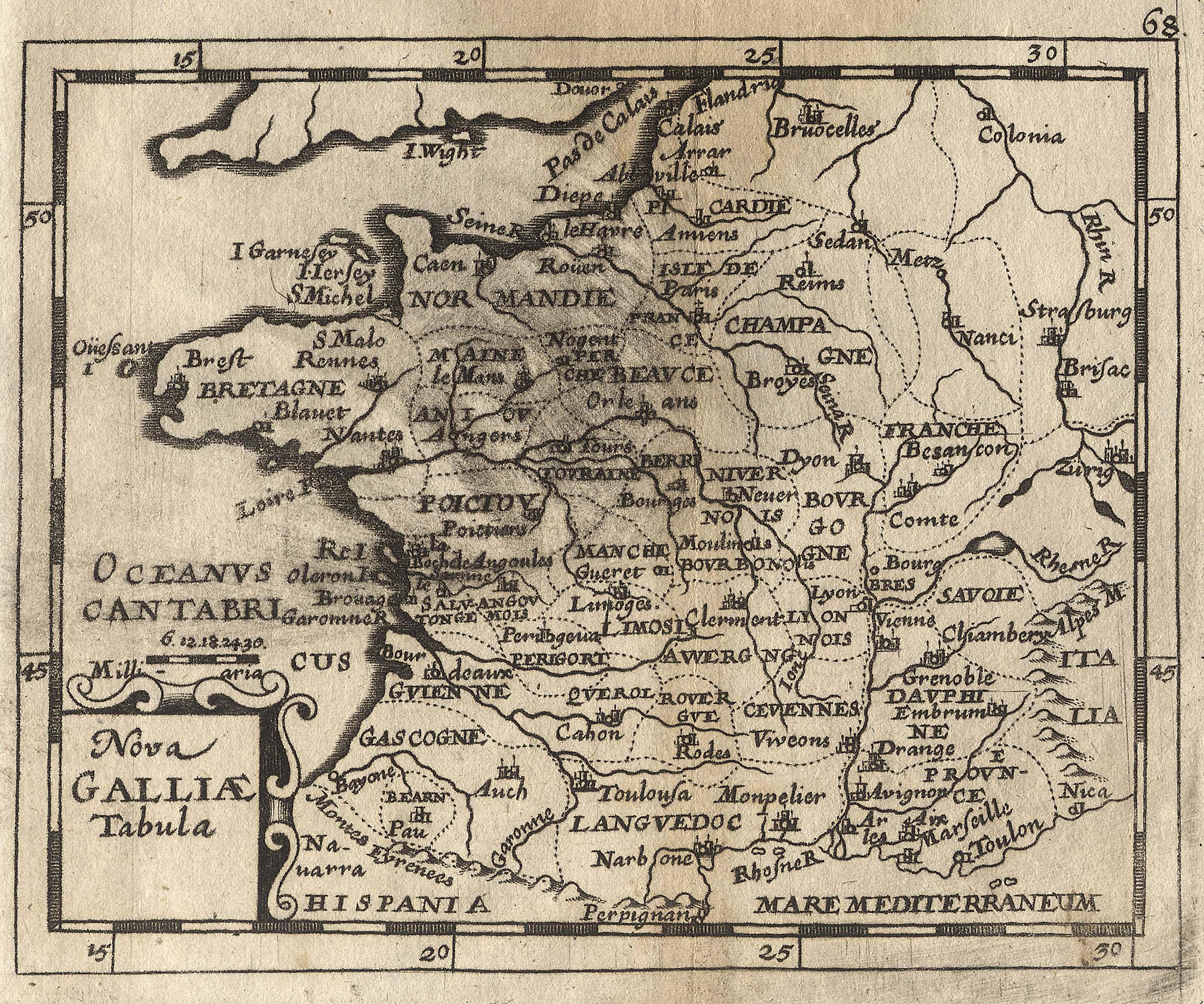 "Kst.- Karte, aus Duval / Hoffmann, ""Nova: Frankreich ( France"