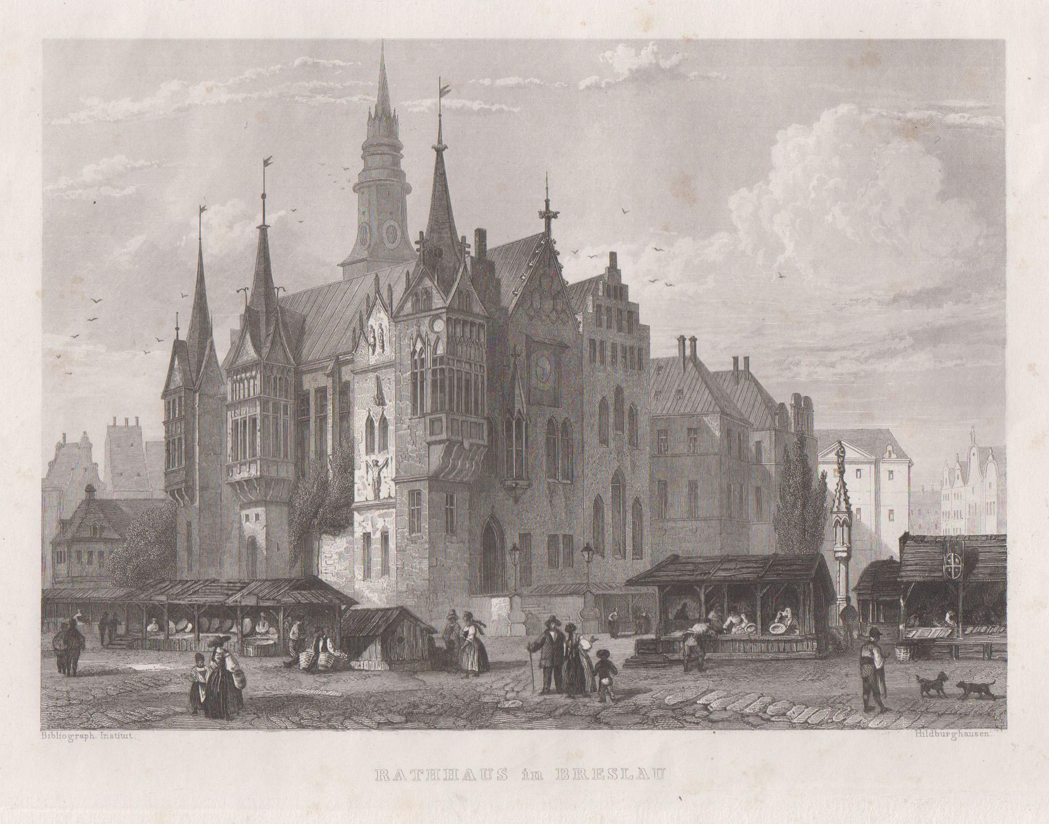 """TA., Rathaus, """"Rathaus in Breslau"""".: Breslau ( Wroclaw"""