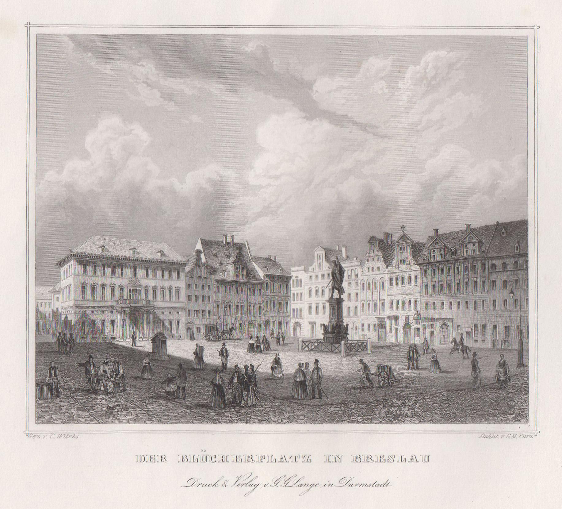 TA., Blücherplatz ( mit Blick auf die: Breslau ( Wroclaw