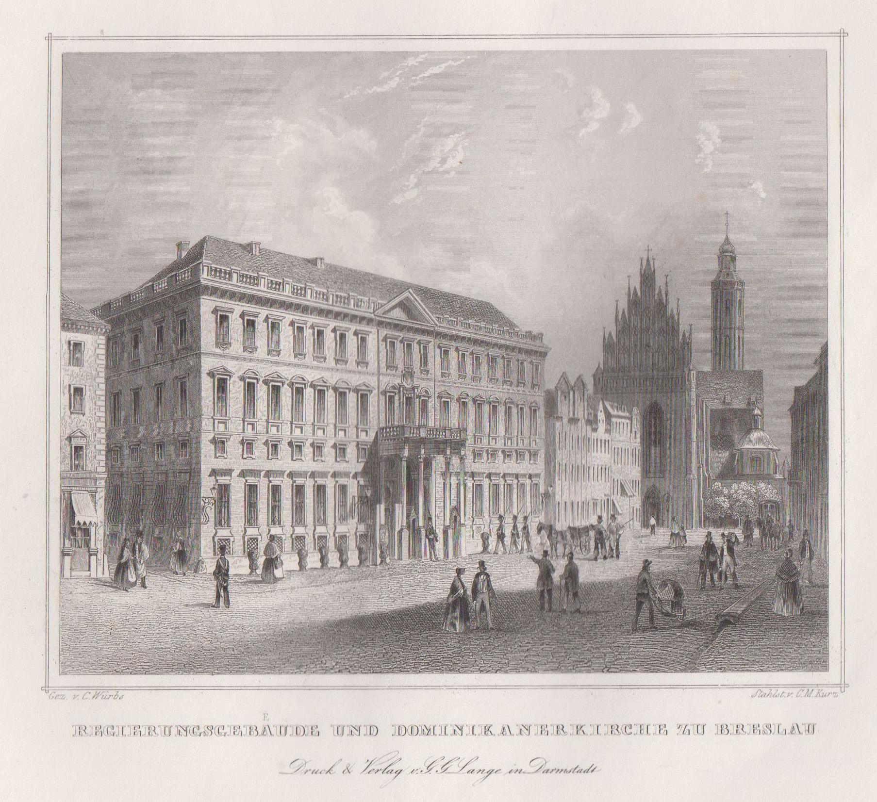 TA., Regierungsgebäude ( Palais Hatzfeld ) und: Breslau ( Wroclaw