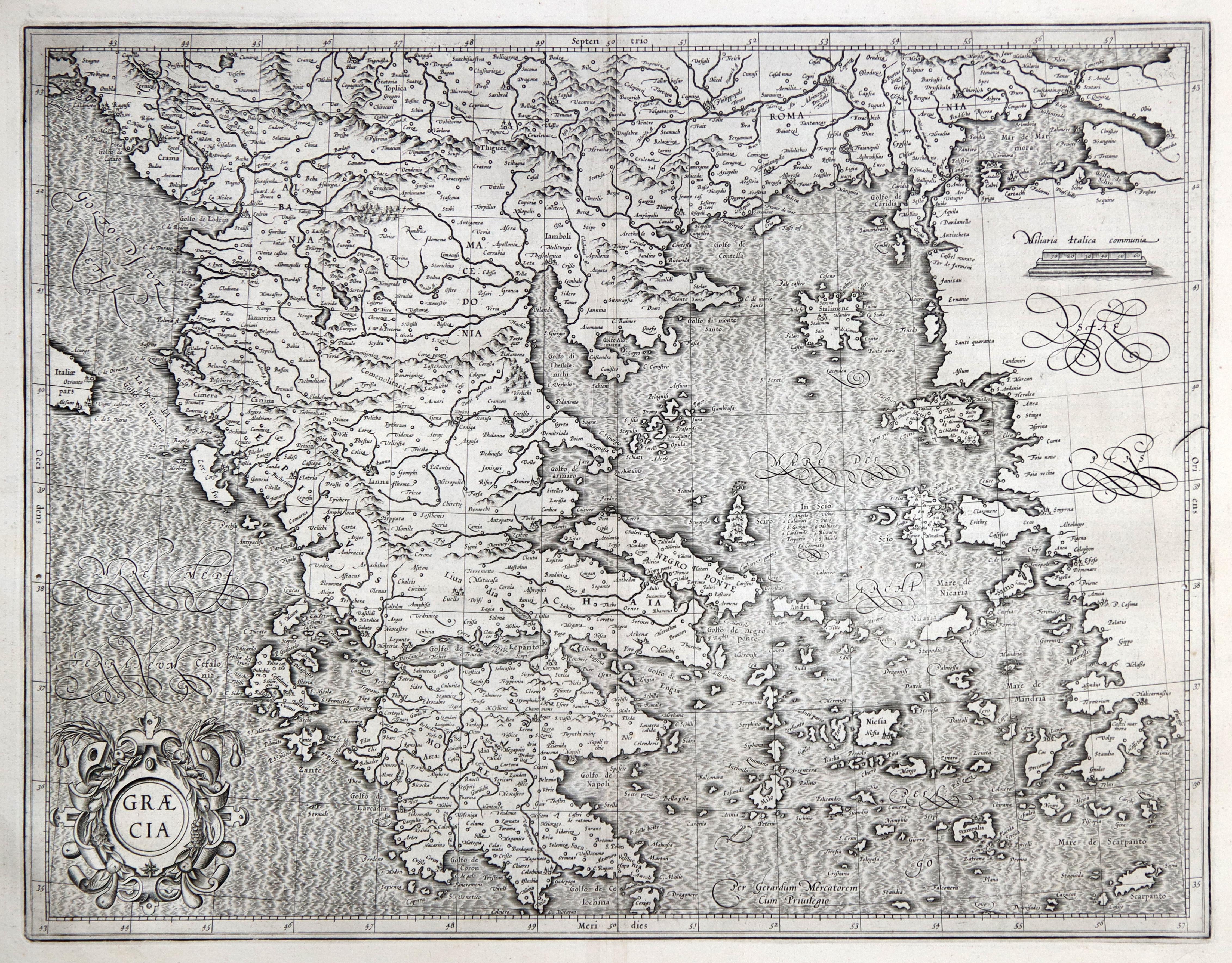Kst.- Karte, n. G. Mercator b. H.: Griechenland ( Greece