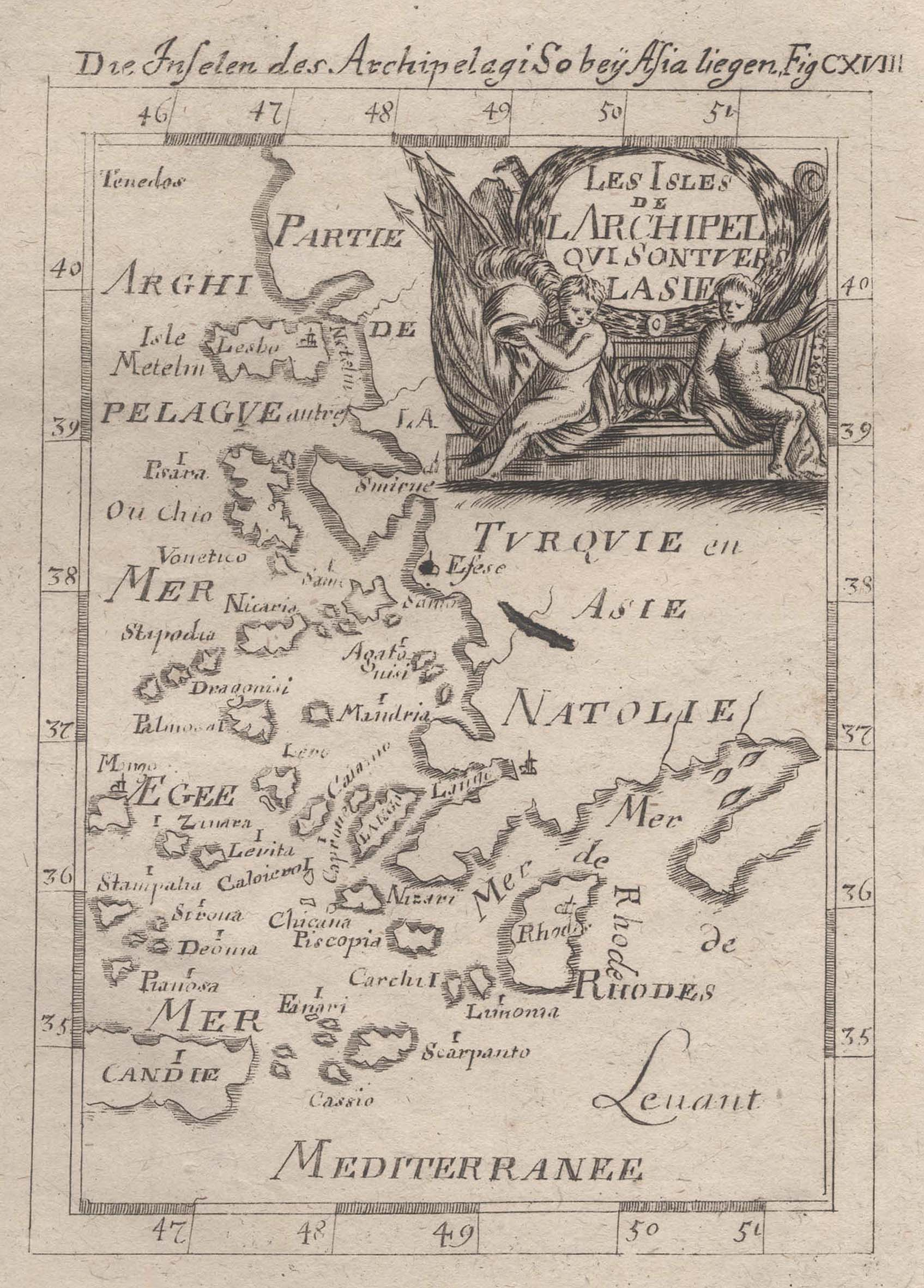 Kst.- Karte, aus Mallet, Les Isles de: Griechenland ( Greece