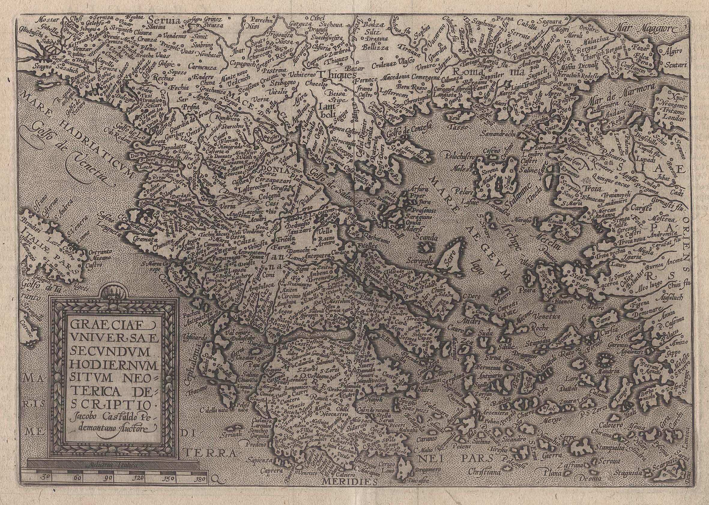 Kst.- Karte, v. M. Quad n. J.: Griechenland ( Greece
