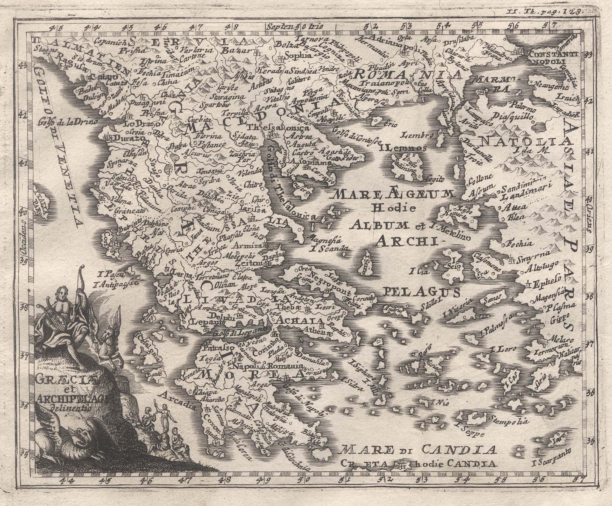Kst.- Karte, v. G.J. Haupt oder Th.: Griechenland ( Greece