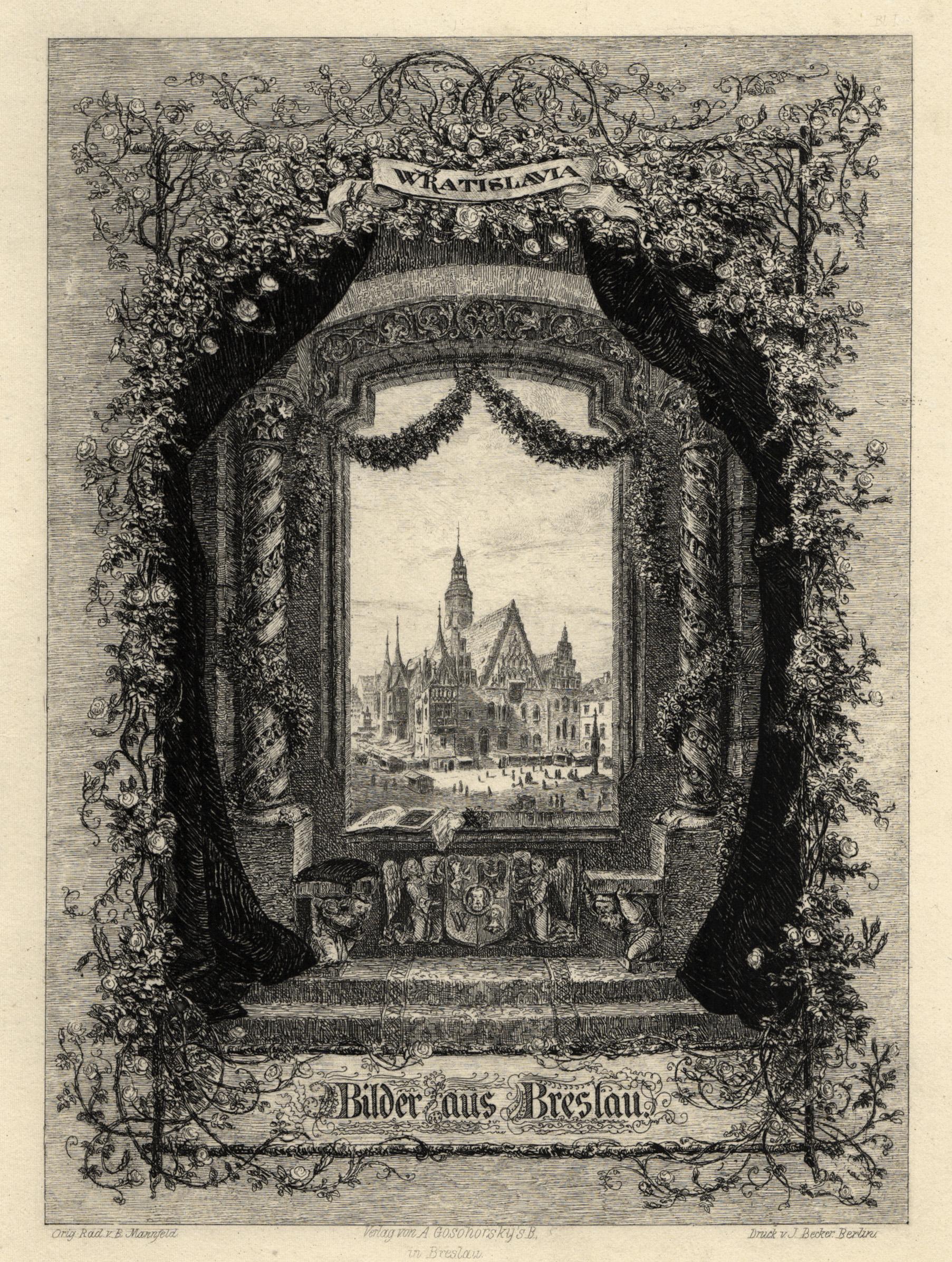 "TA., Rathaus, ""Wratislavia - Bilder aus Breslau"".: Breslau ( Wroclaw"