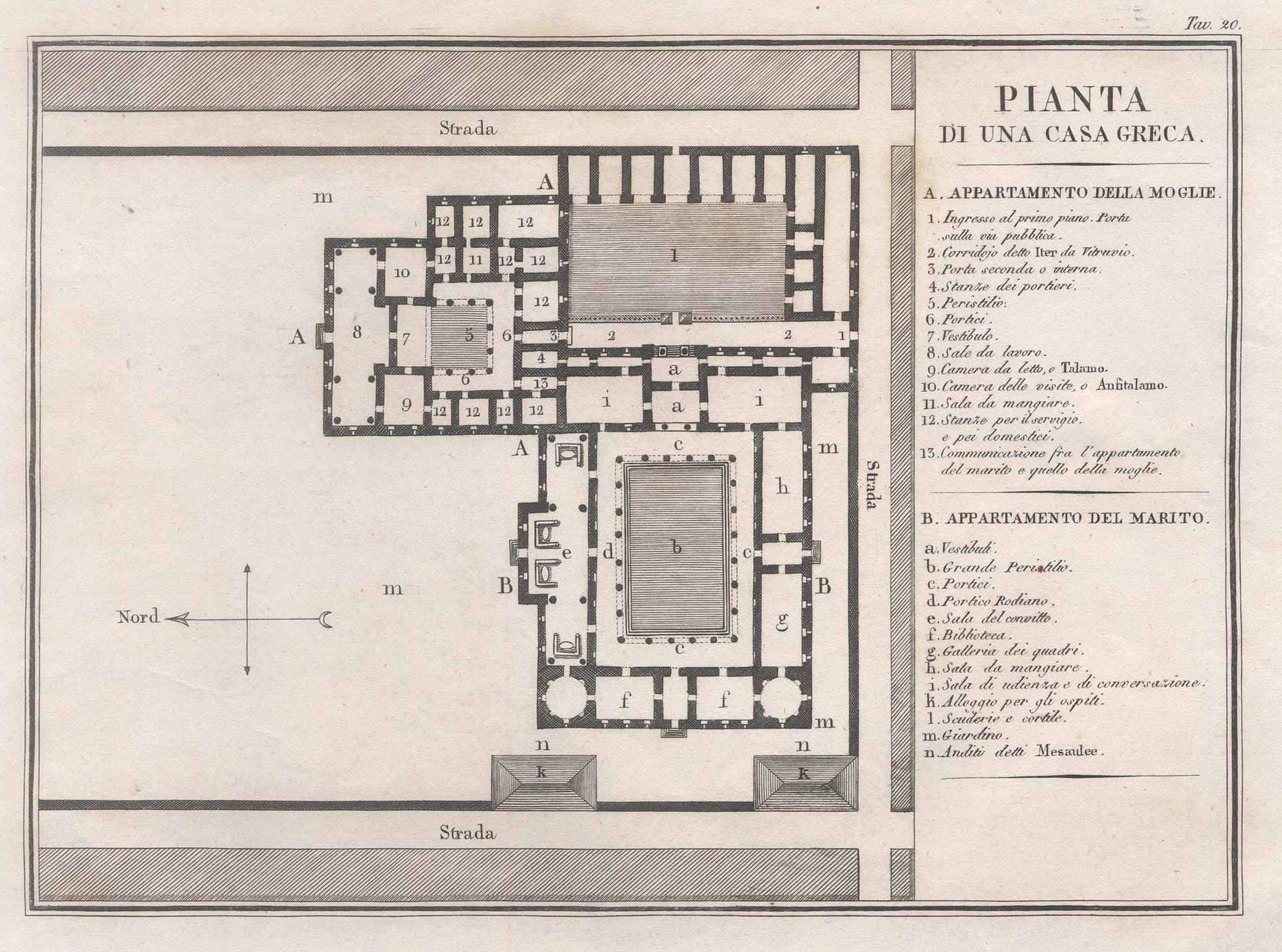 "Grundriss eines Hauses, ""Pianta di una casa: Griechenland ( Greece"