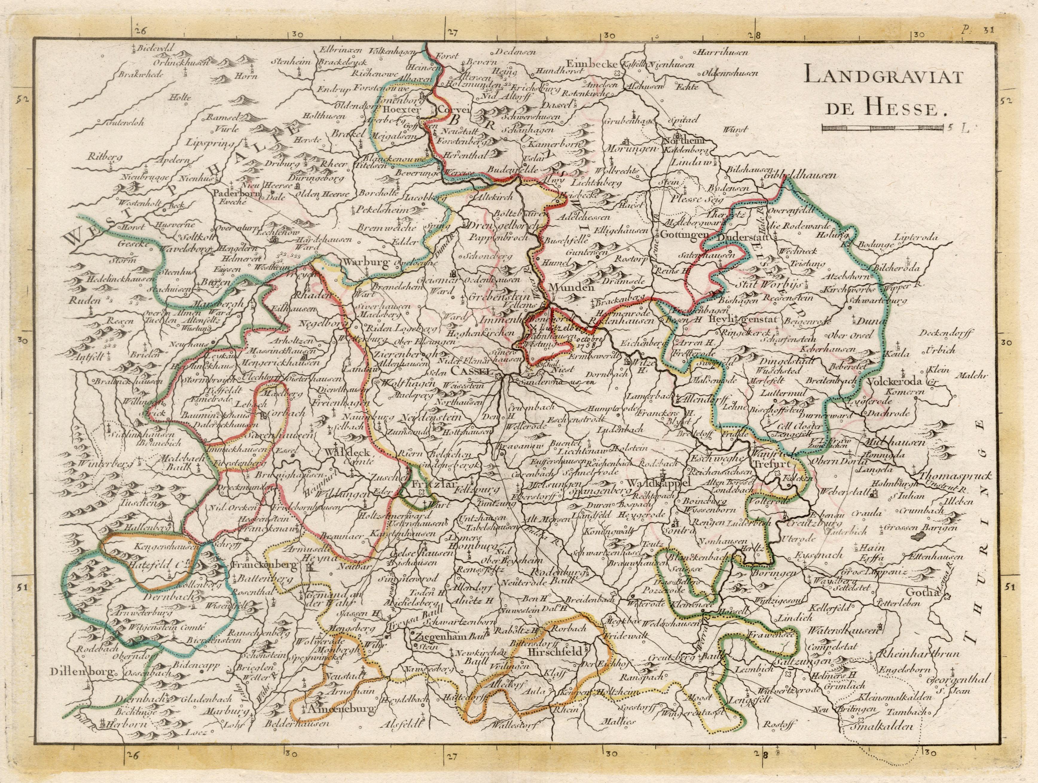 Kst.- Karte, v. Le Rouge b. Crepy,: Nordhessen: