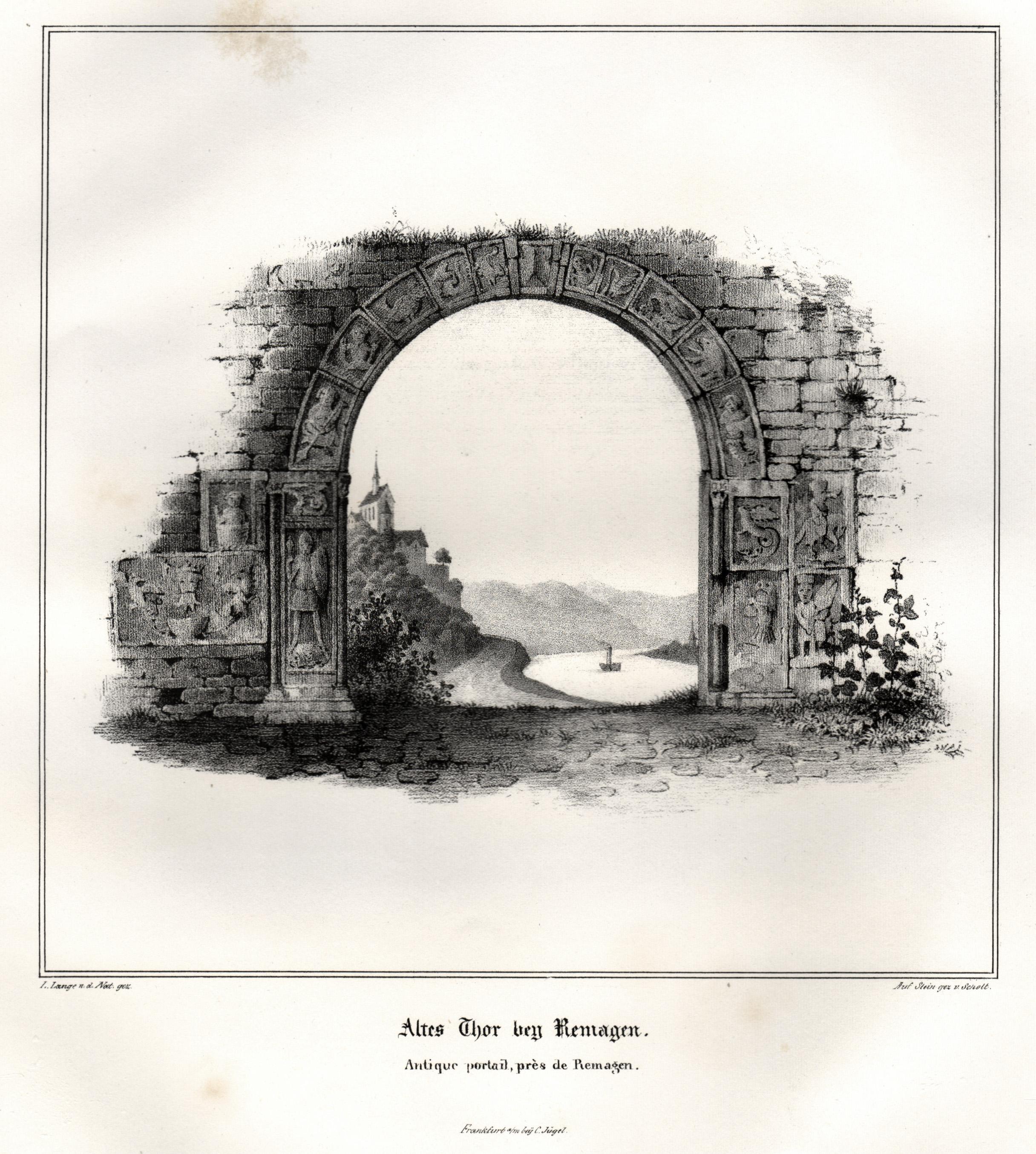 """TA., Altes Tor, """"Altes Tor bei Remagen"""".: Remagen:"""
