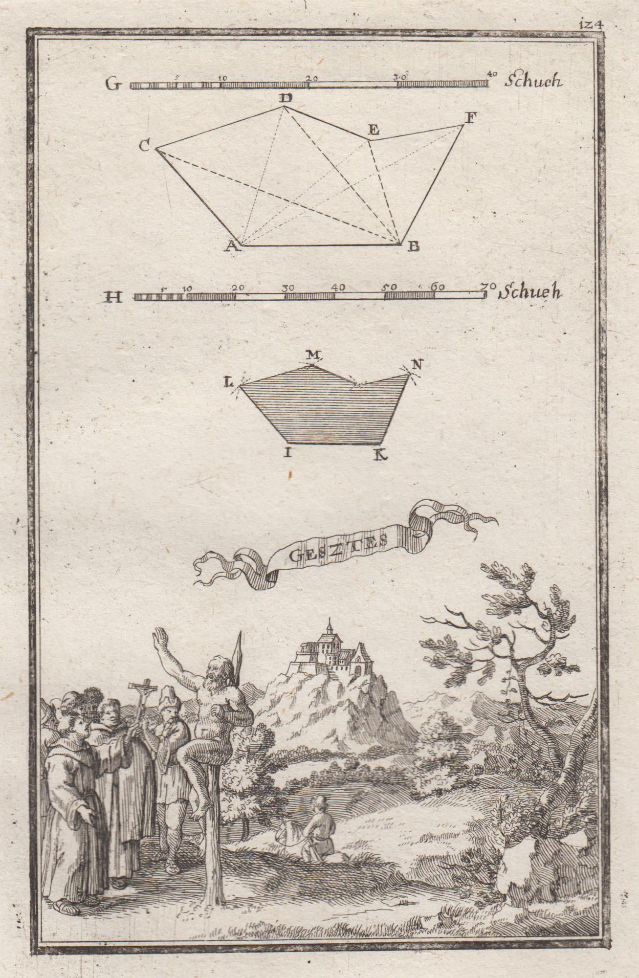 """Gesamtans., darüber geometrische Figuren, """"Gesztes"""".: Vargesztes ( Komarom"""