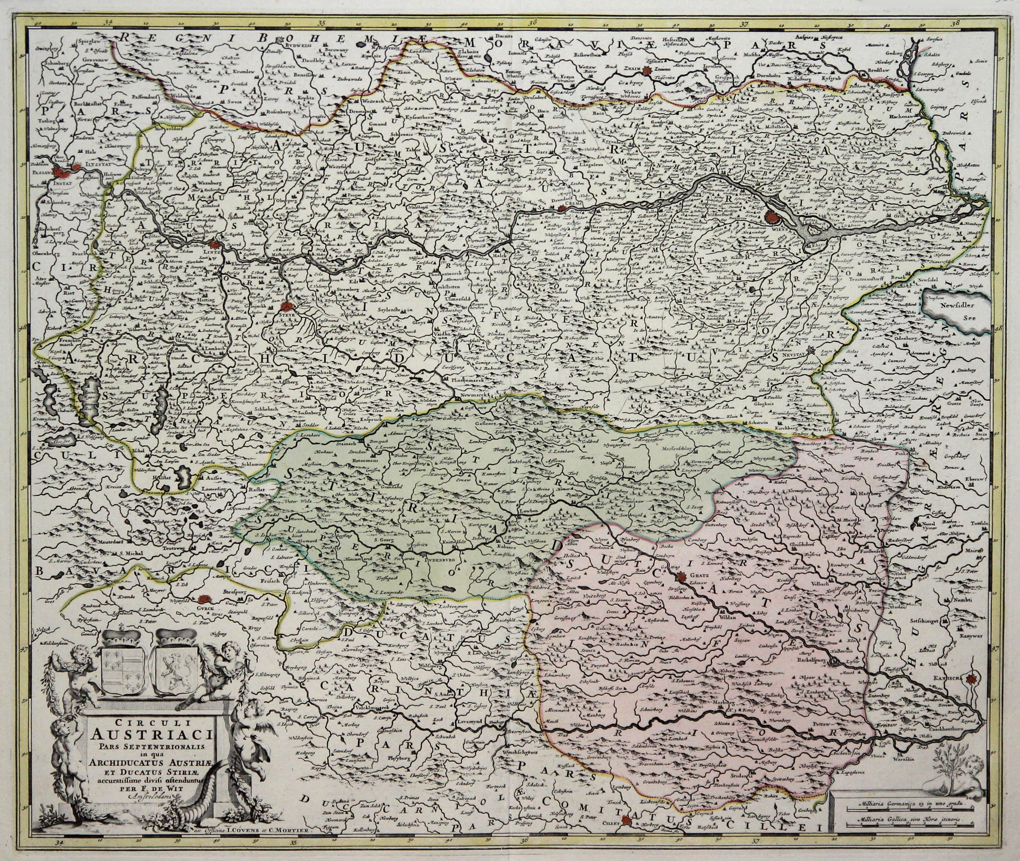 Kst.- Karte, n. F. de Wit b.: Österreichischer Kreis: