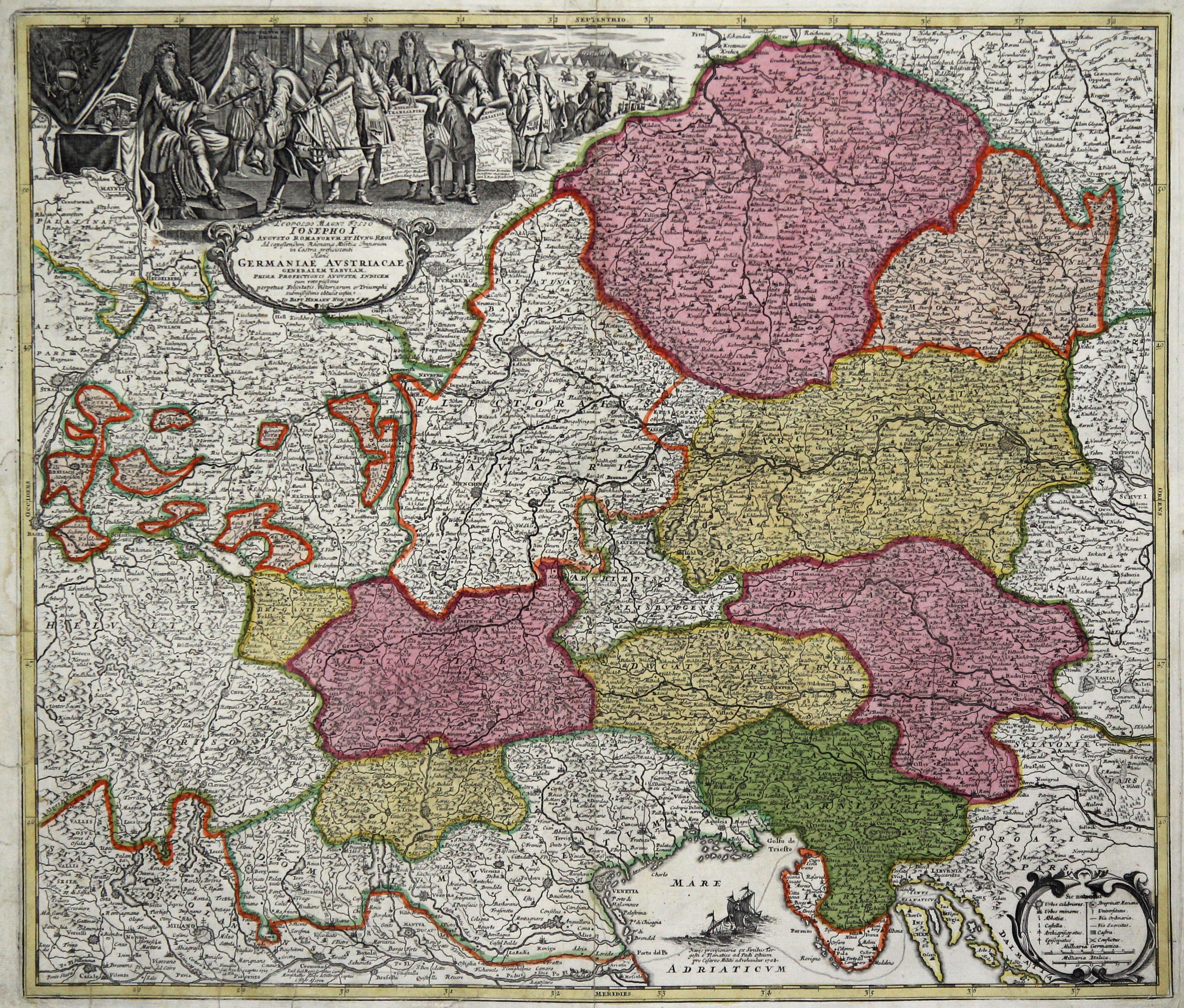 """Kst.- Karte, b. J. B. Homann, """"Leopoldi: Österreichischer Kreis:"""