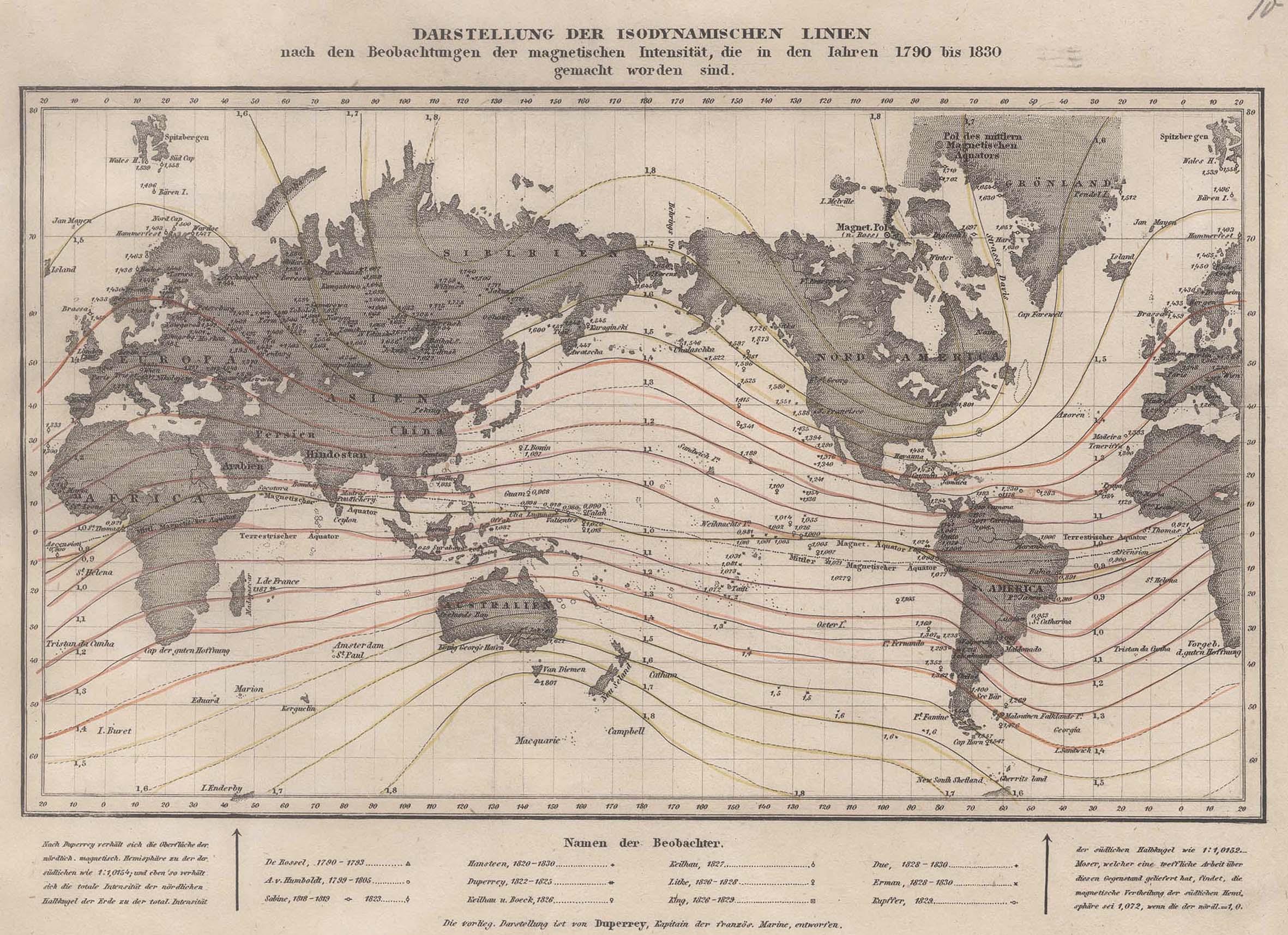 "Stst.- Karte n. Duperrey b. B.I., ""Darstellung: Weltkarte ( World"