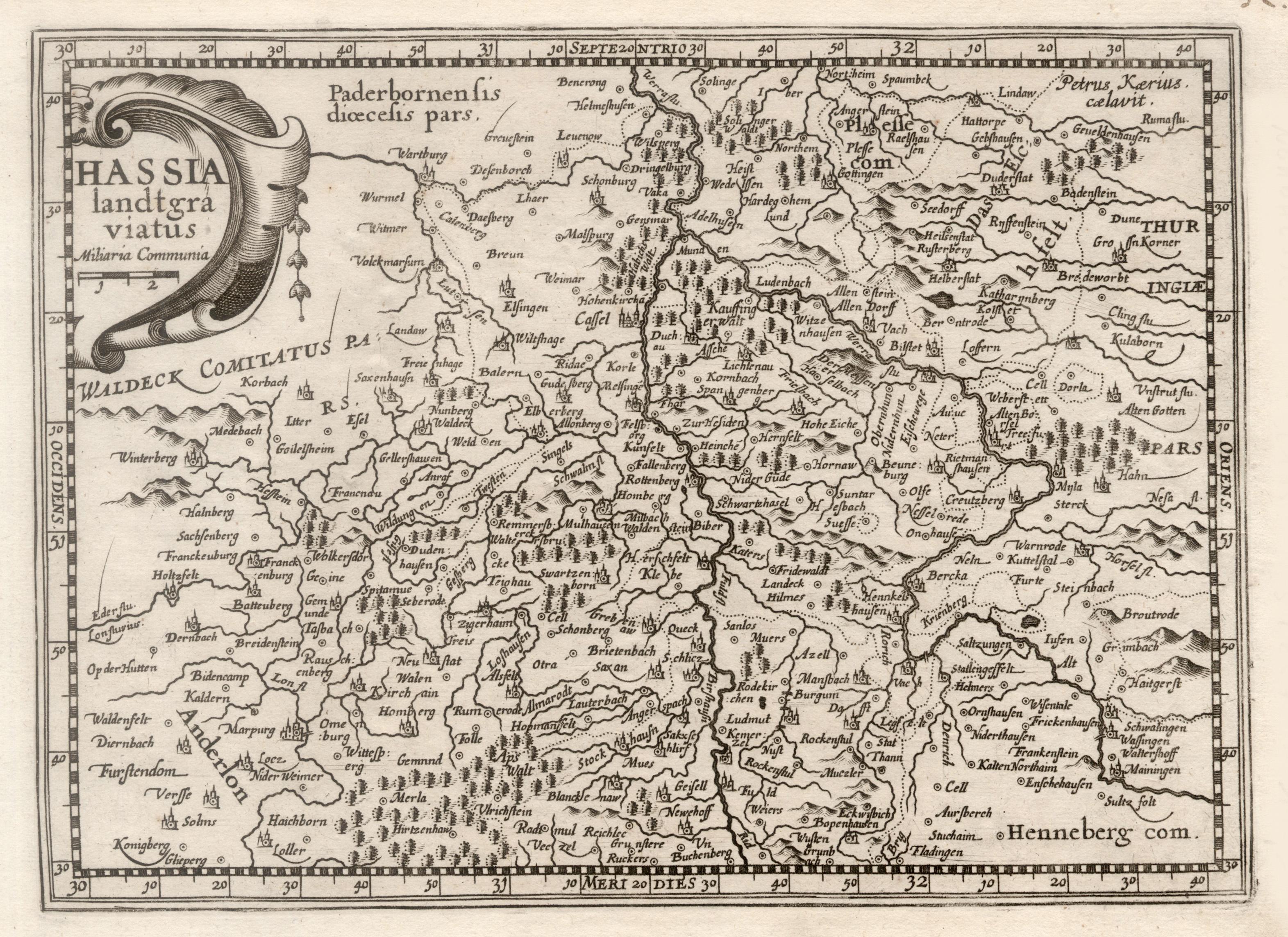 Kst.- Karte, n. P. Kaerius b. Jans.-: Nordhessen: