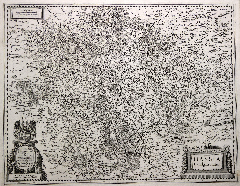 "Kst.- Karte, b. J. Janssonius, ""Hassia Landgraviatus."".: Nordhessen:"